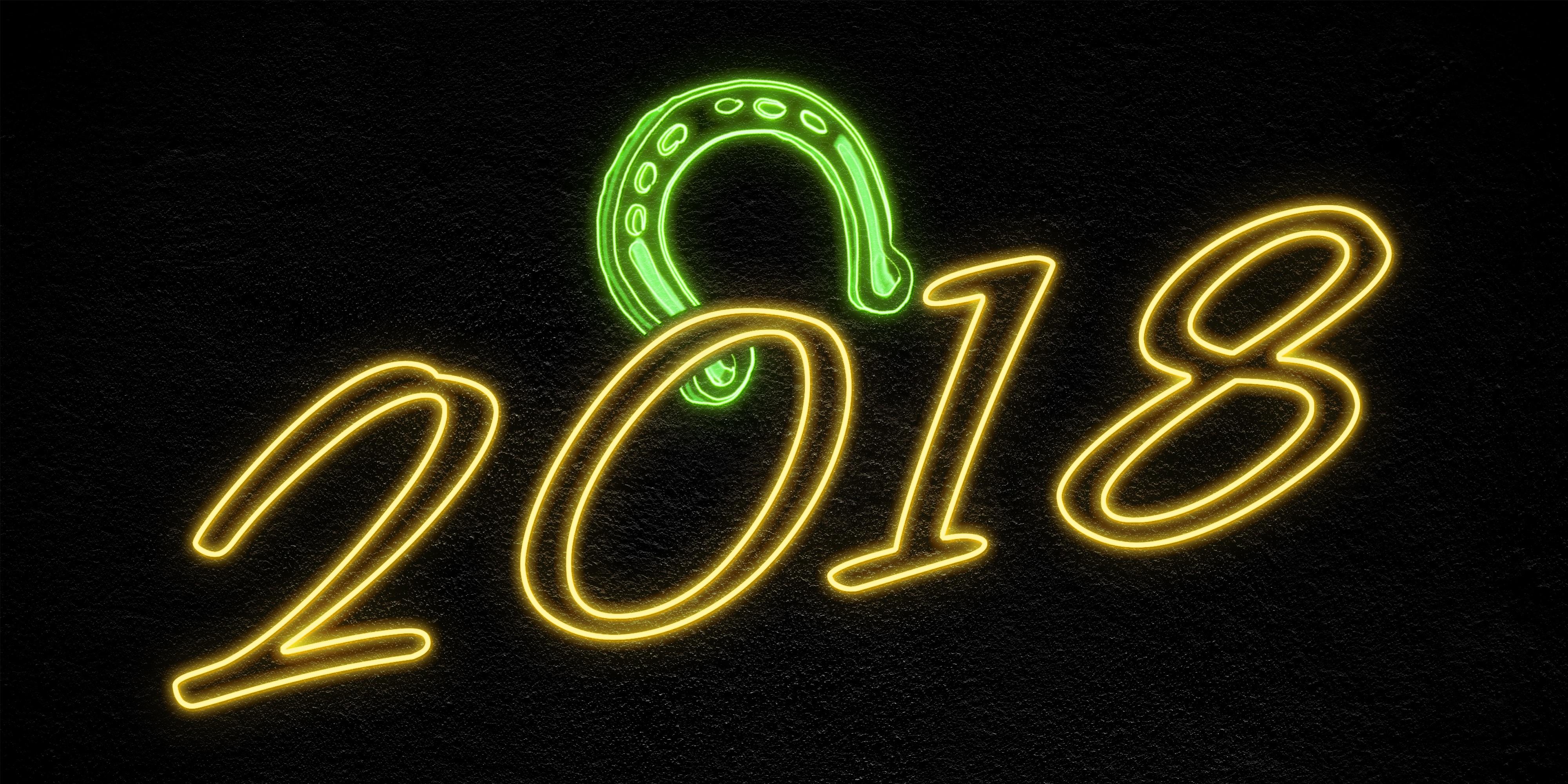 Happy New Year 2018 4k