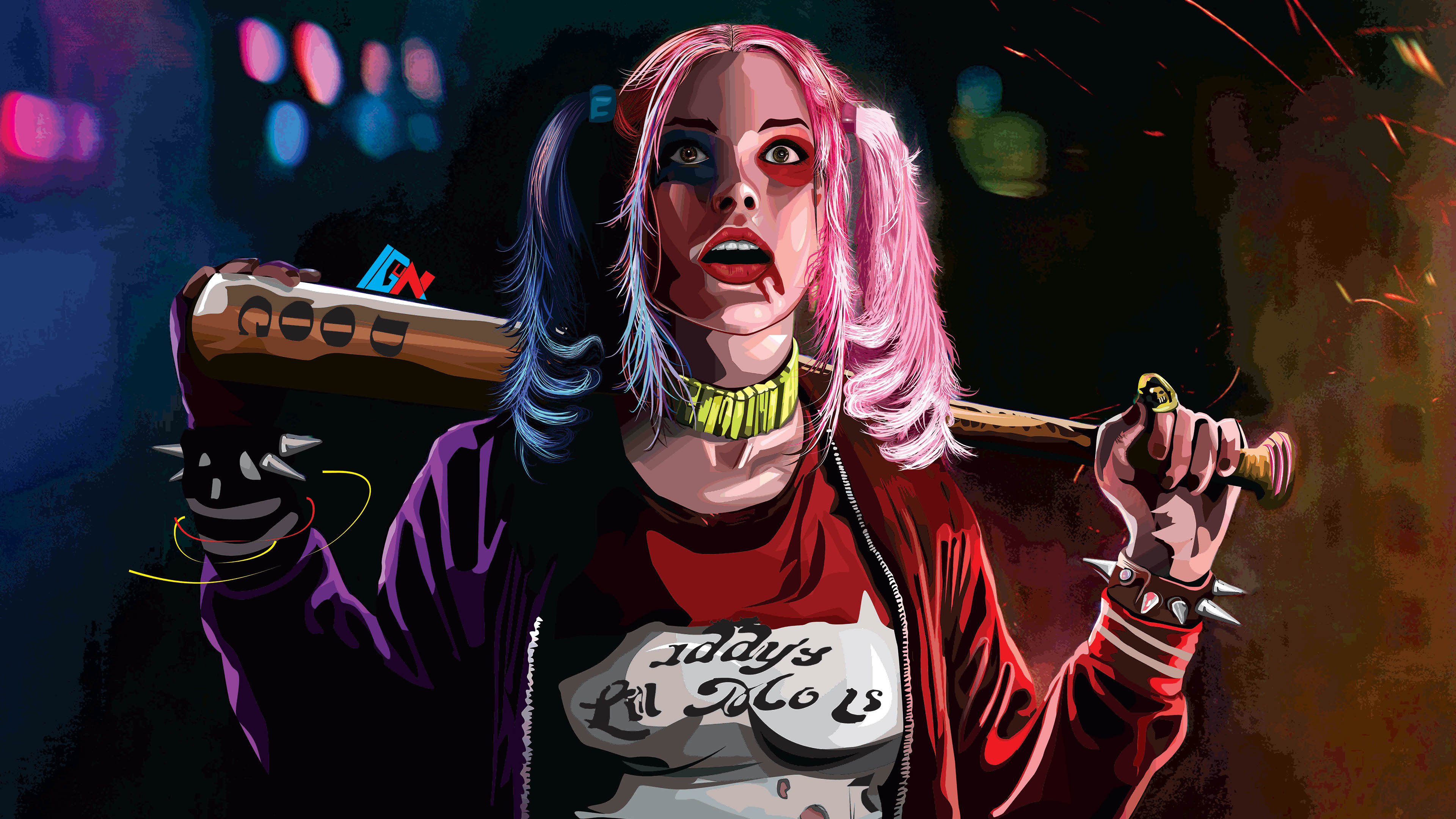Harley quinn 4k artworks hd superheroes 4k wallpapers - Harley quinn hd wallpapers for android ...
