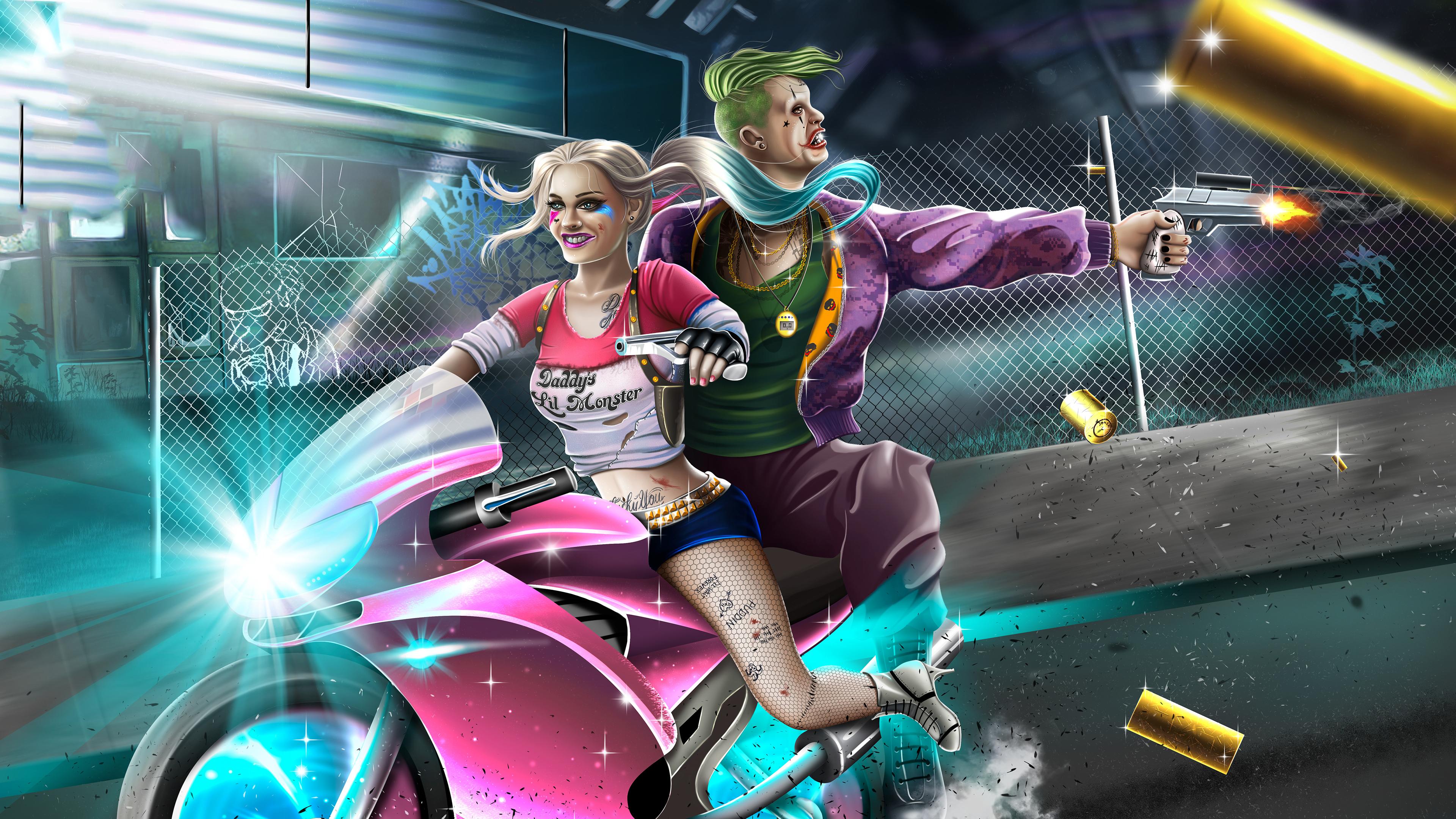 3840x2400 Harley Quinn And Joker 4k 4k HD 4k Wallpapers ...