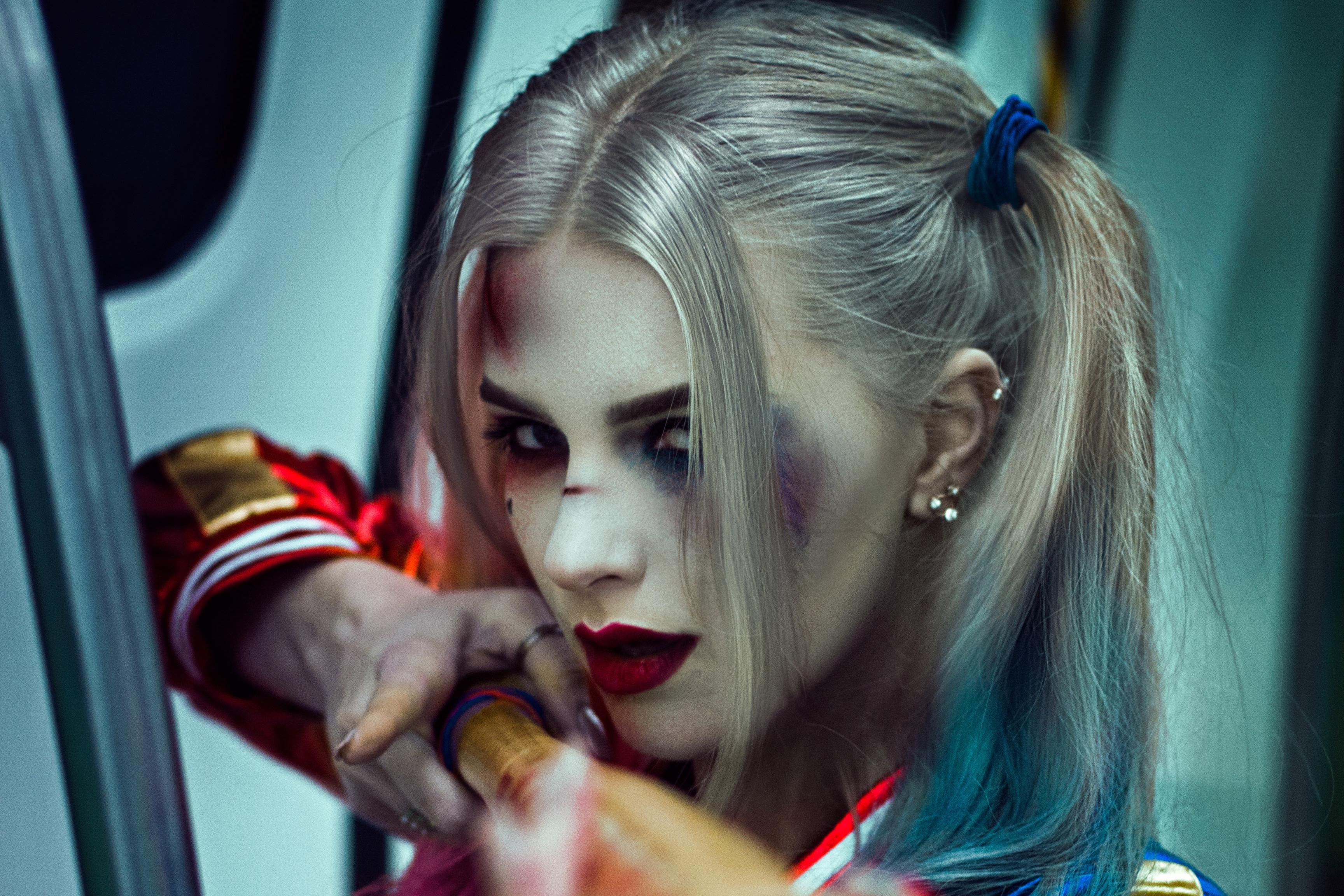 Harley Quinn Daddy Little Monster, HD Superheroes, 4k