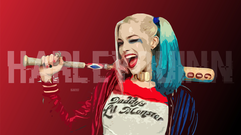 Harley Quinn Wallpaper Hd 1080p 78 Images: Harley Quinn Digital Art Hd, HD Artist, 4k Wallpapers