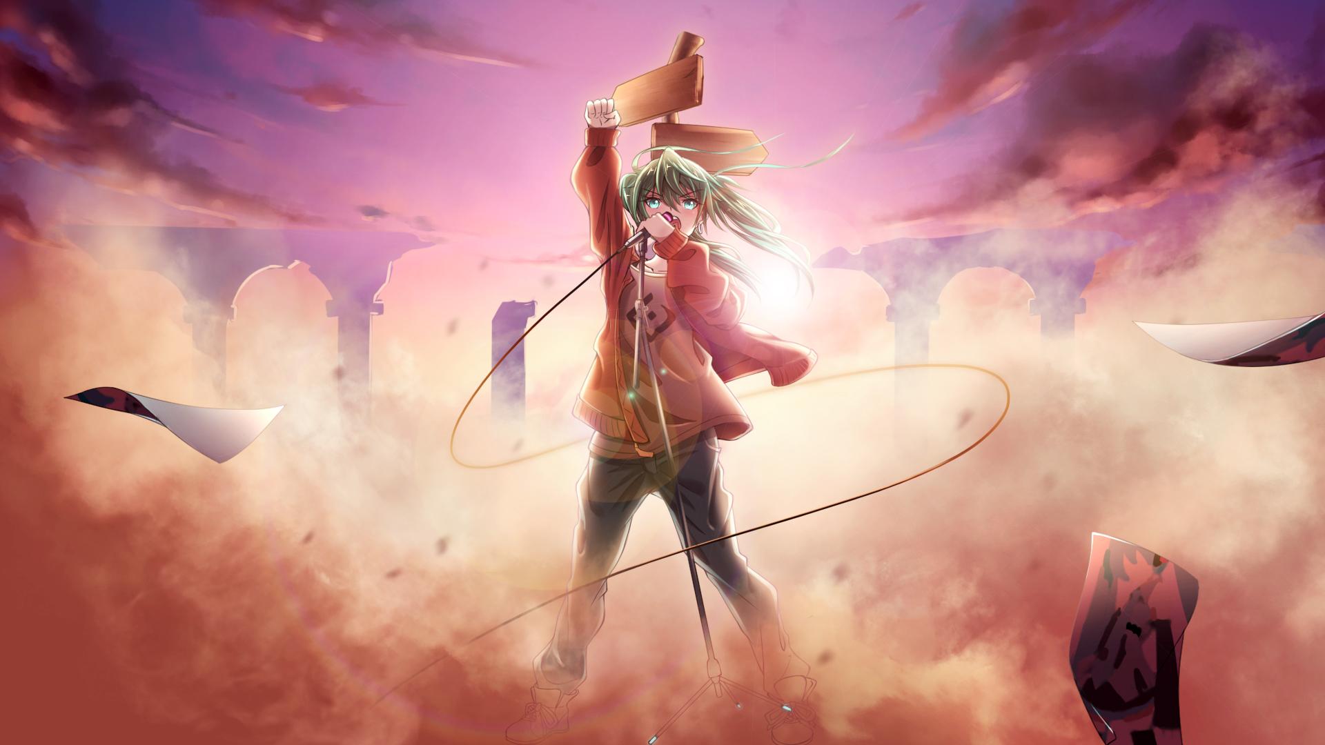 1360x768 hatsune miku laptop hd hd 4k wallpapers images - Anime wallpaper 1360x768 hd ...