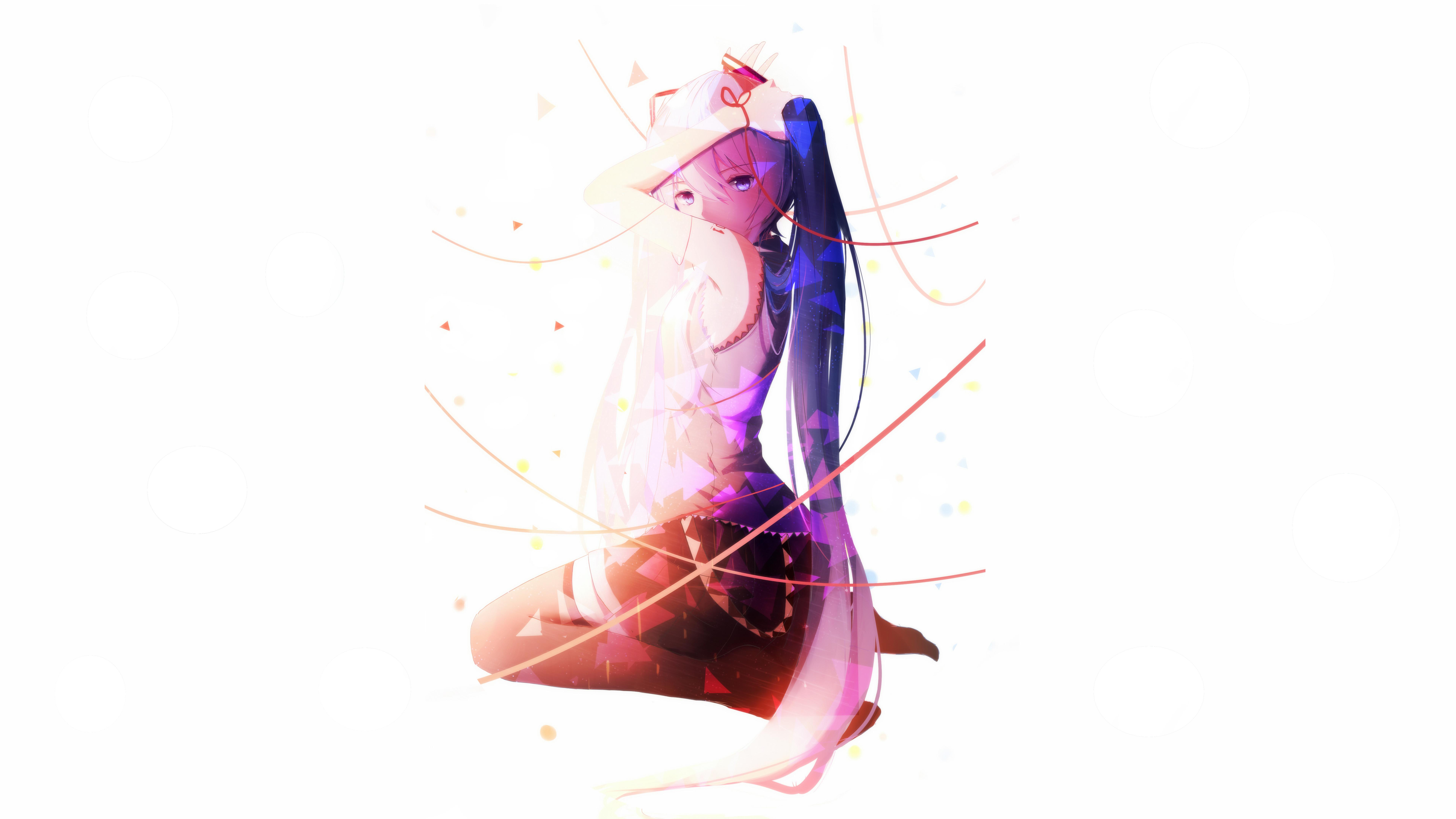 Hatsune Miku Vocaloid Girl 8k, HD Anime, 4k Wallpapers