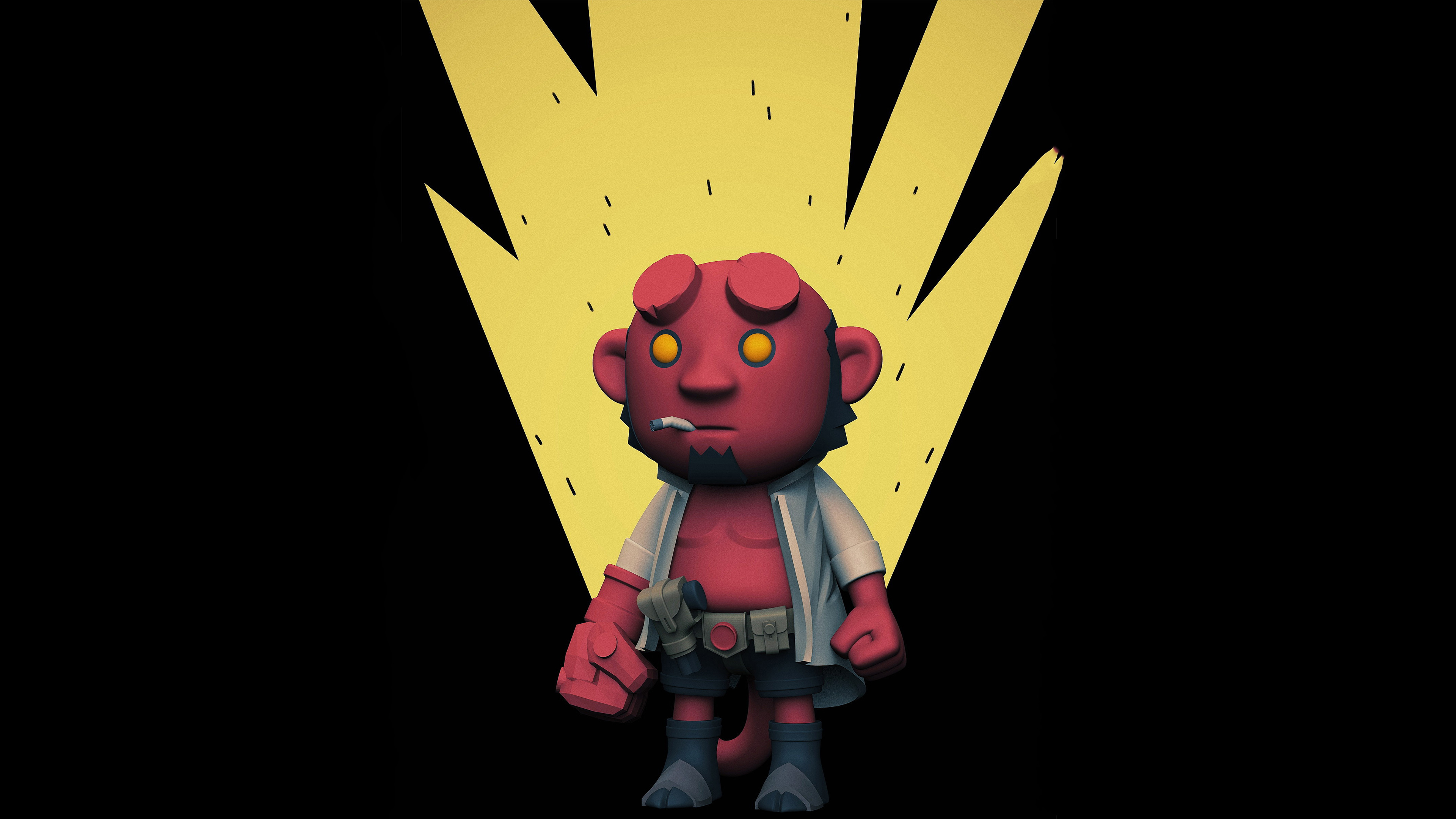 640x1136 Hellboy 4k Iphone 5 5c 5s Se Ipod Touch Hd 4k Wallpapers