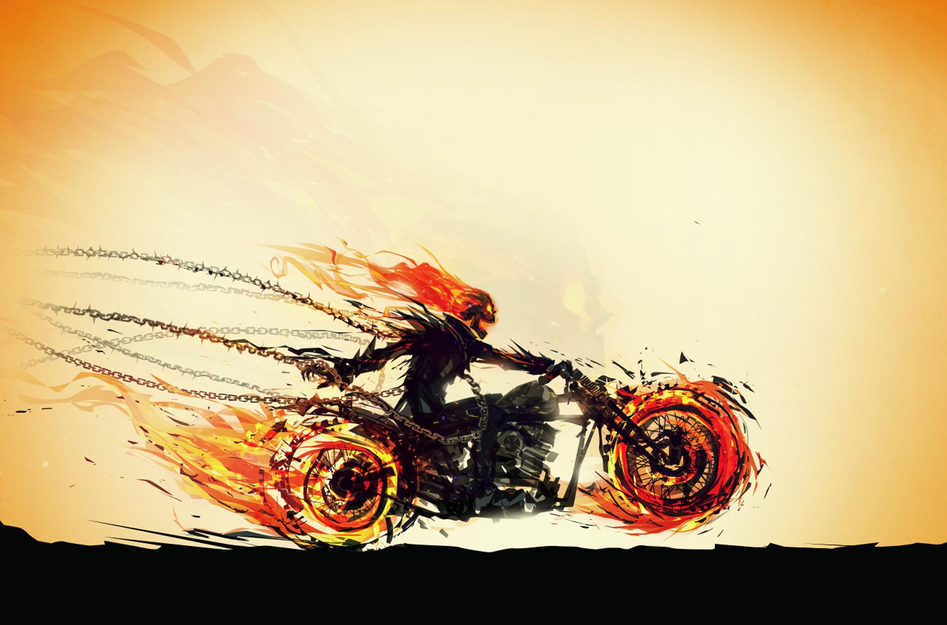 Ghost Rider Digital Painting | Photoshop Digital Painting ...  |Ghost Rider Digital Painting Photoshop