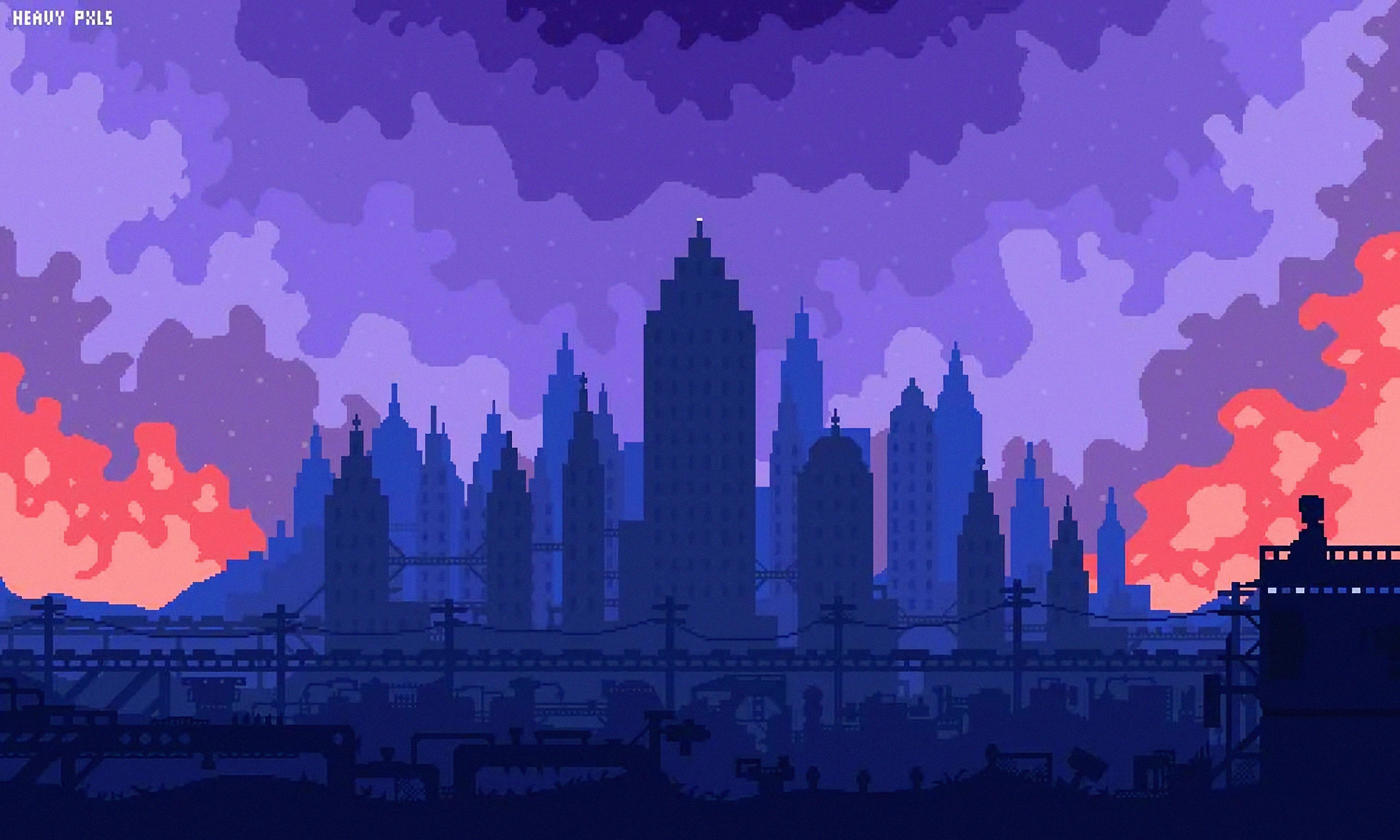 High Skies Pixel Art 4k Hd Artist 4k Wallpapers Images