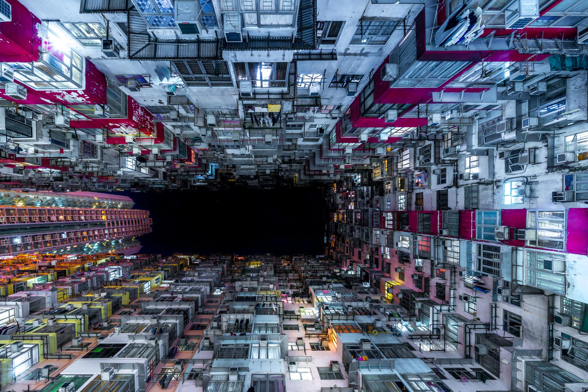Hong Kong Buildings Worms Eye View Hd World 4k Wallpapers
