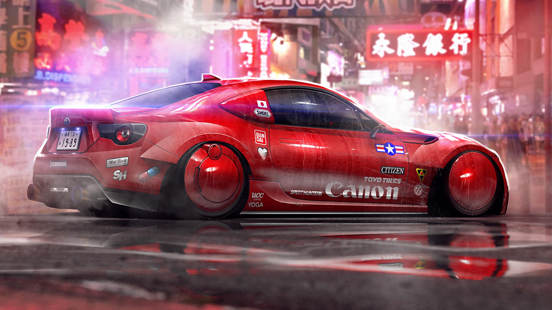 Honkong Cyberpunk Cars Hd Artist 4k Wallpapers Images