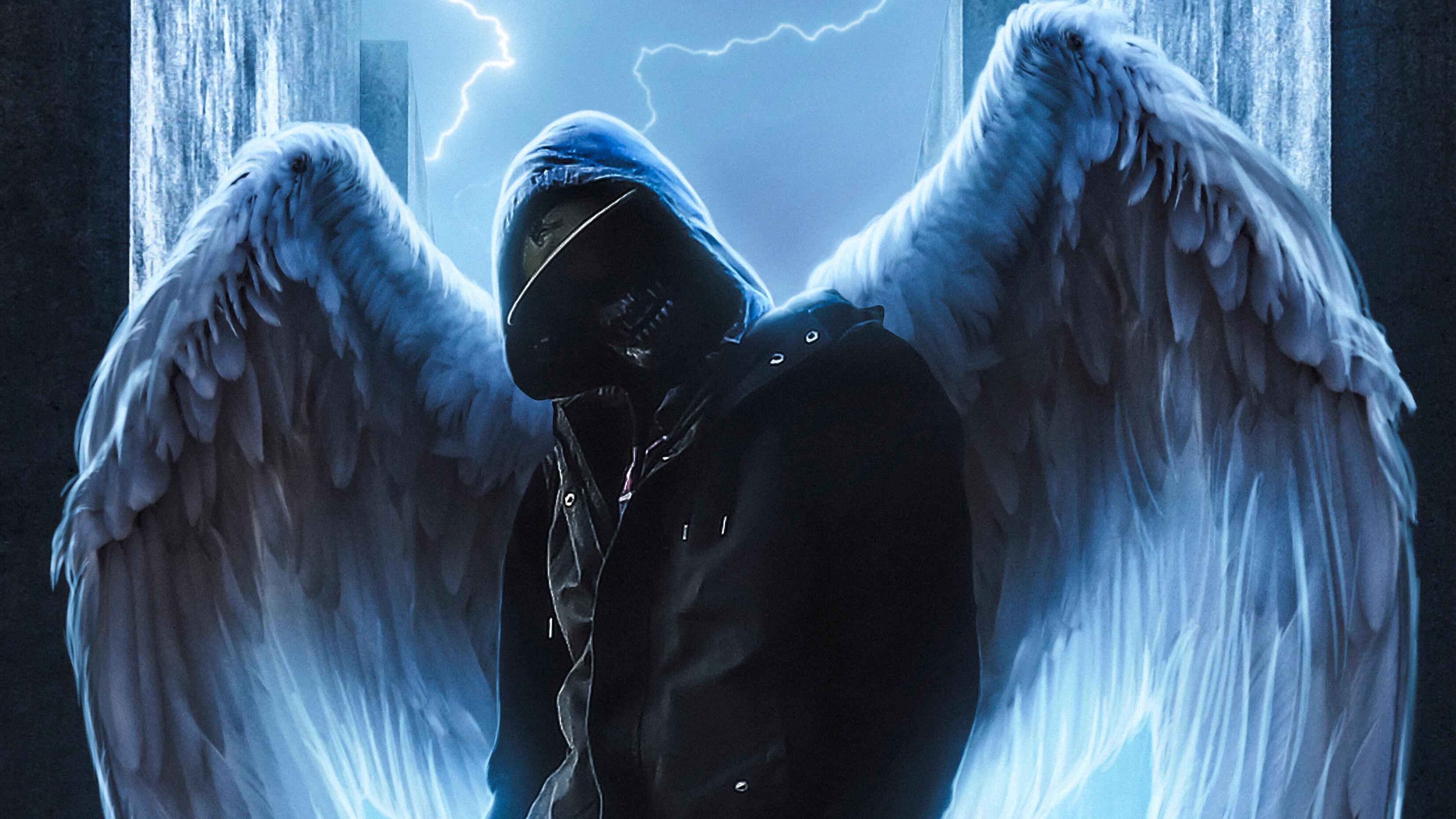 Hoodie Guy With Wings Hd Artist 4k Wallpapers Images