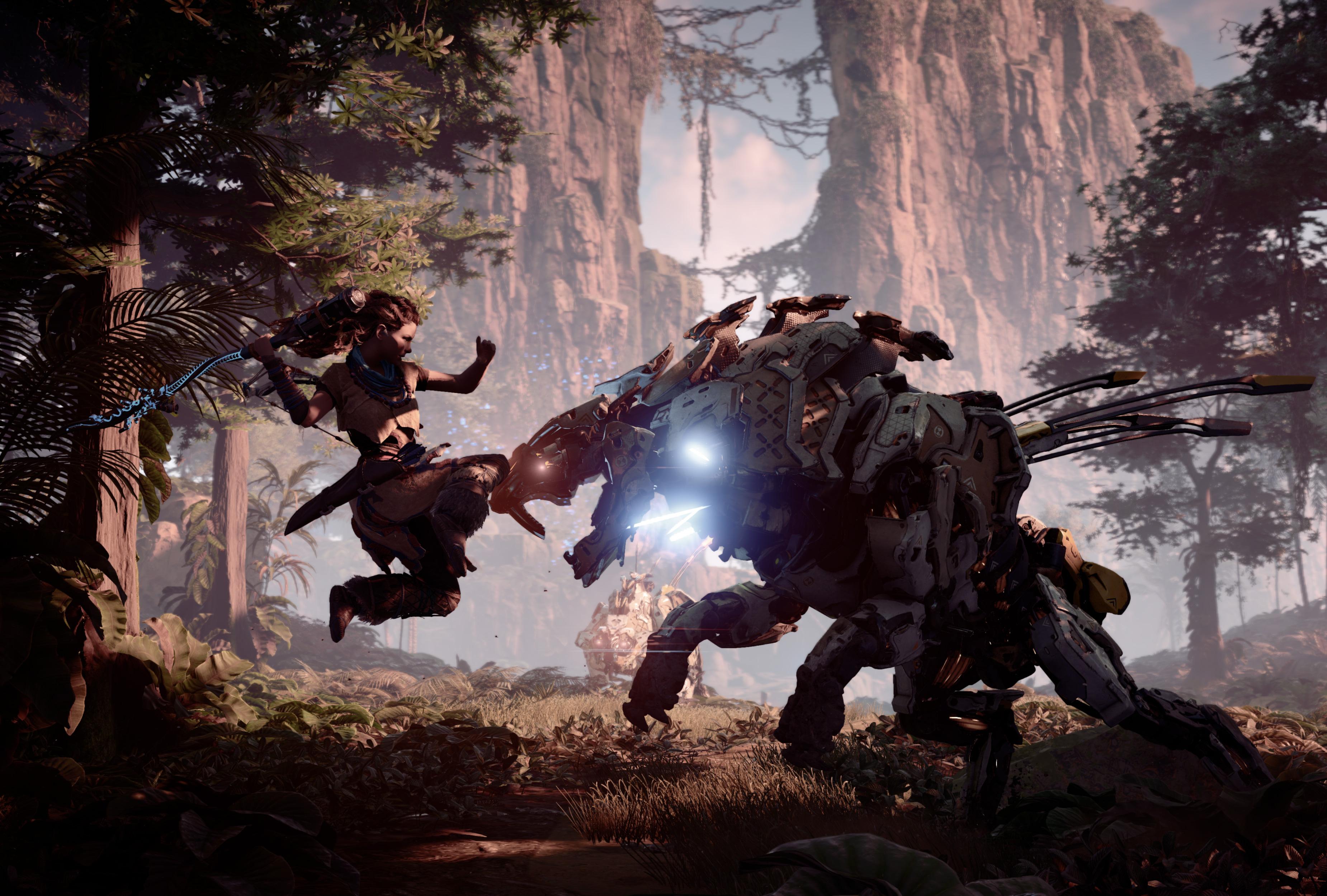 Horizon Zero Dawn Attack 4k, HD Games, 4k Wallpapers