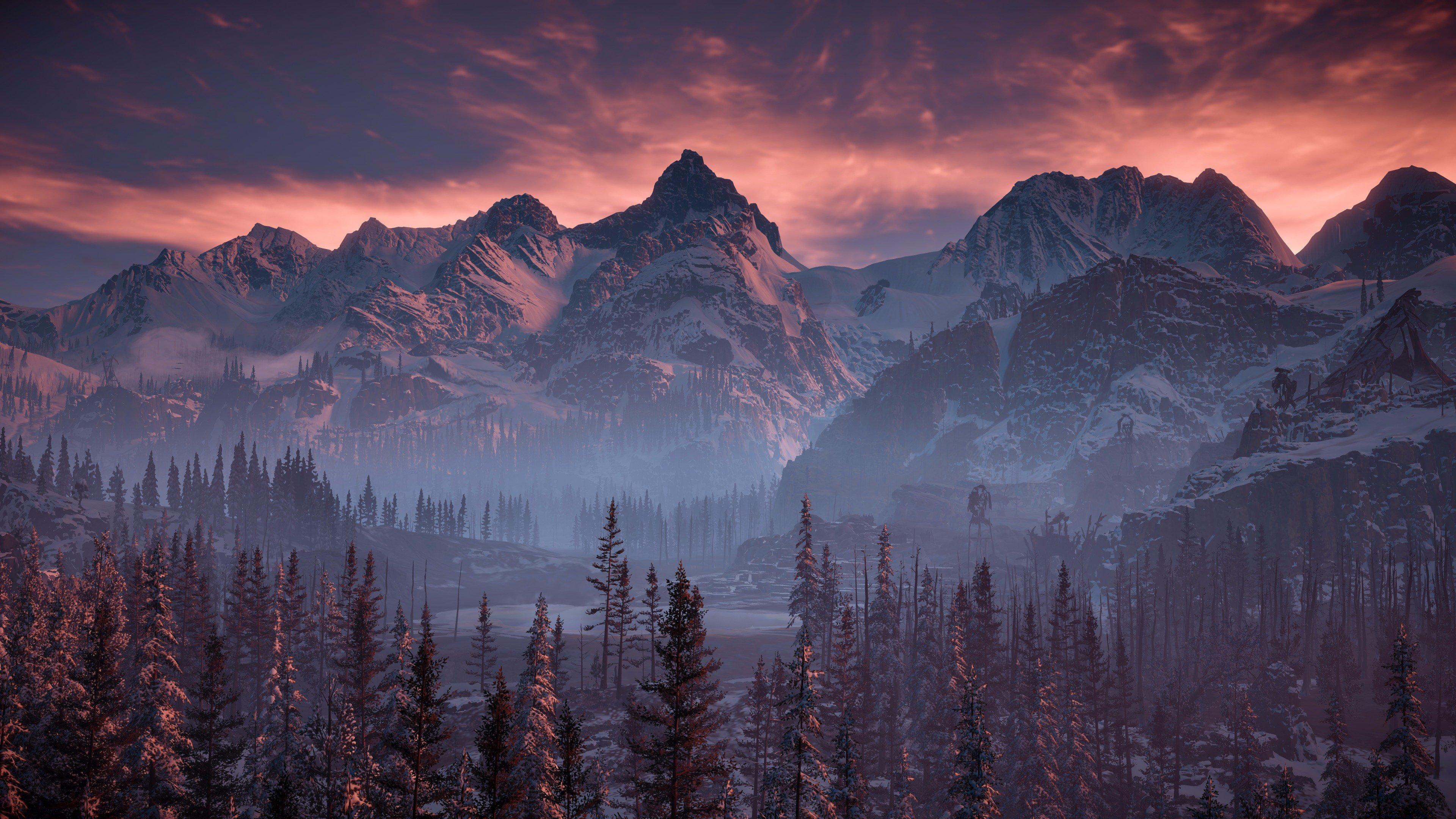 Horizon Zero Dawn Nature Mountains Trees Sky 4k Hd Games