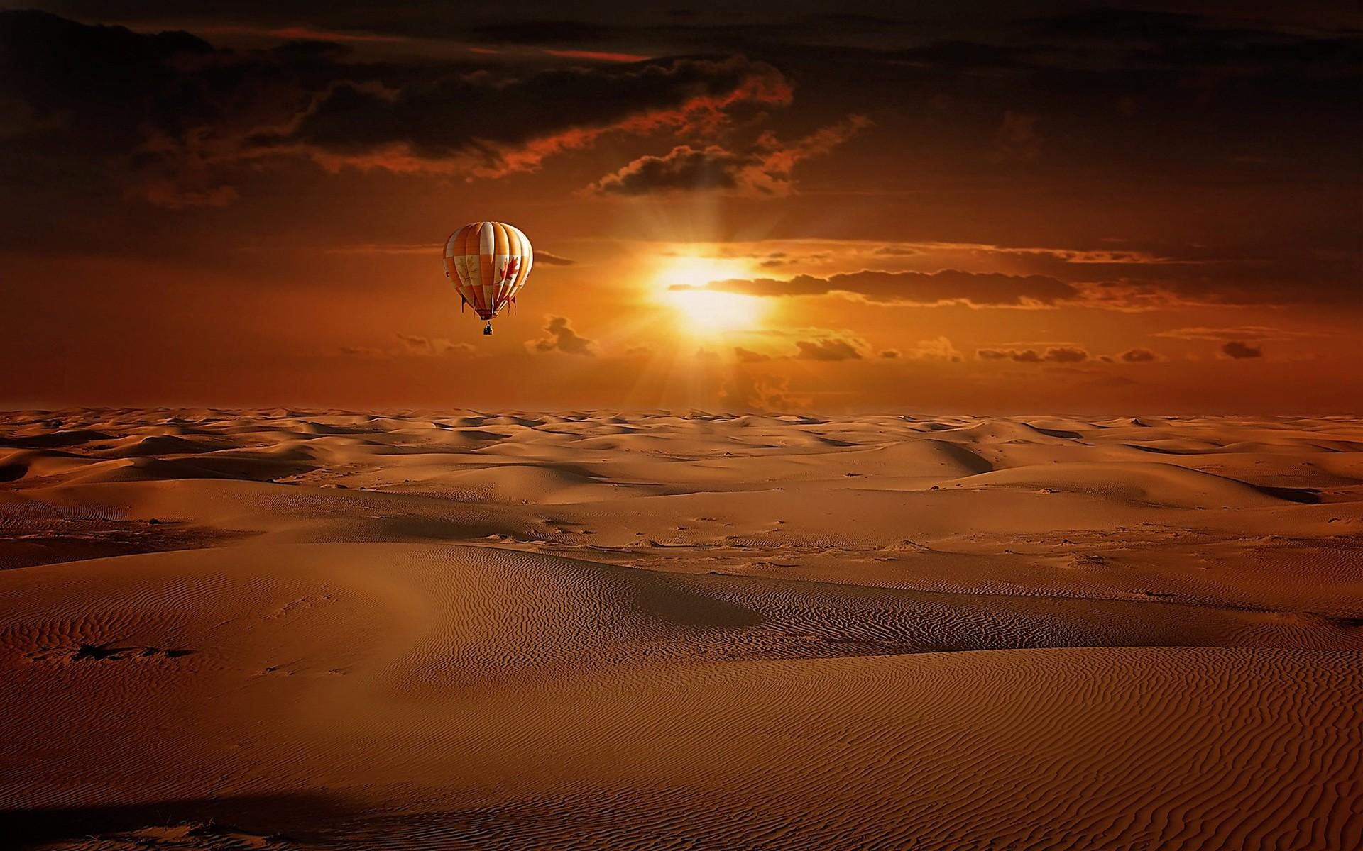 Hot Air Balloon Desert, HD Nature, 4k Wallpapers, Images ...