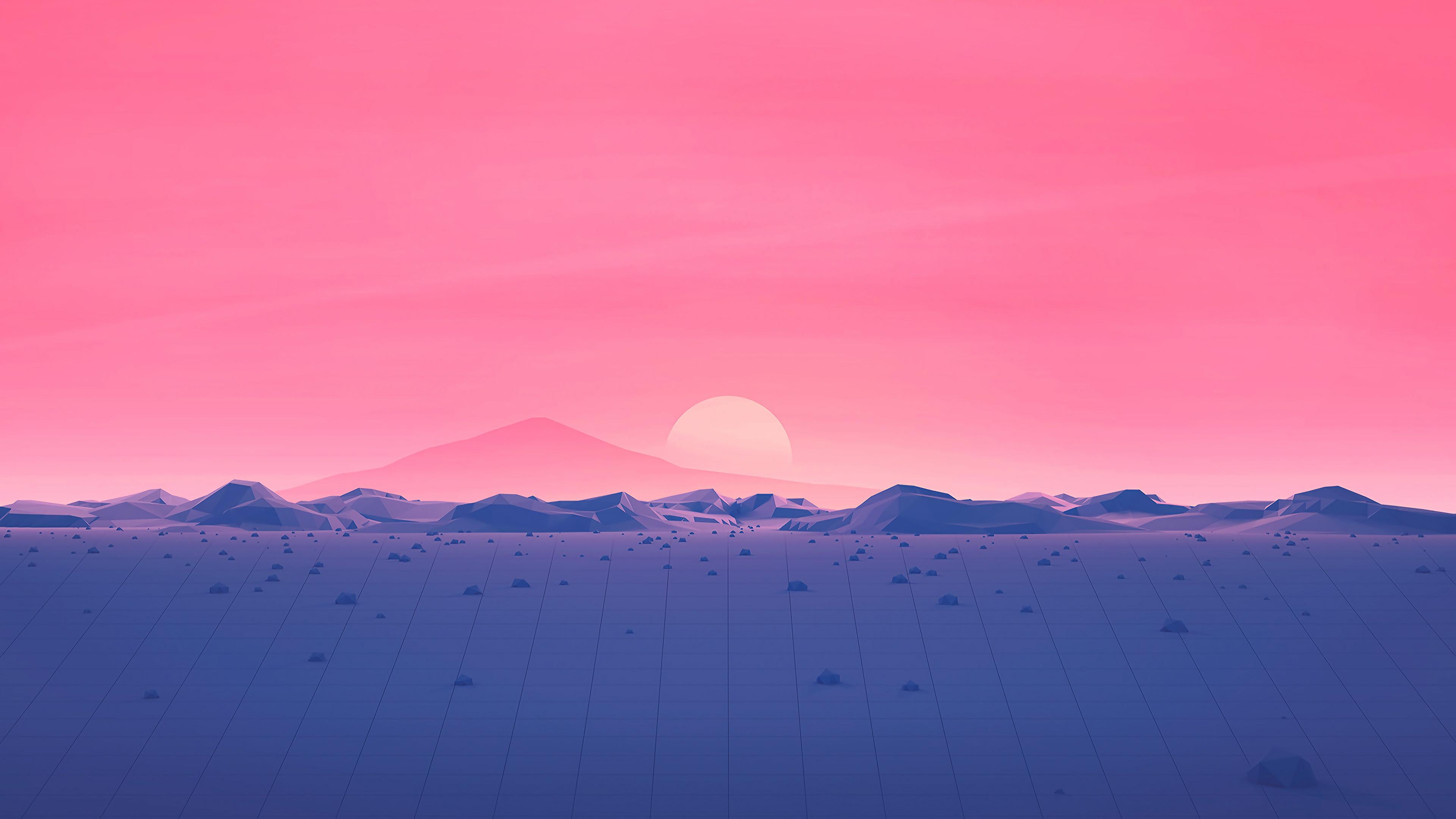 Must see Wallpaper Mountain Polygon - hotizons-sunset-polygon-surface-mountains-4k-minimalism-rp  Pic_877796.jpg