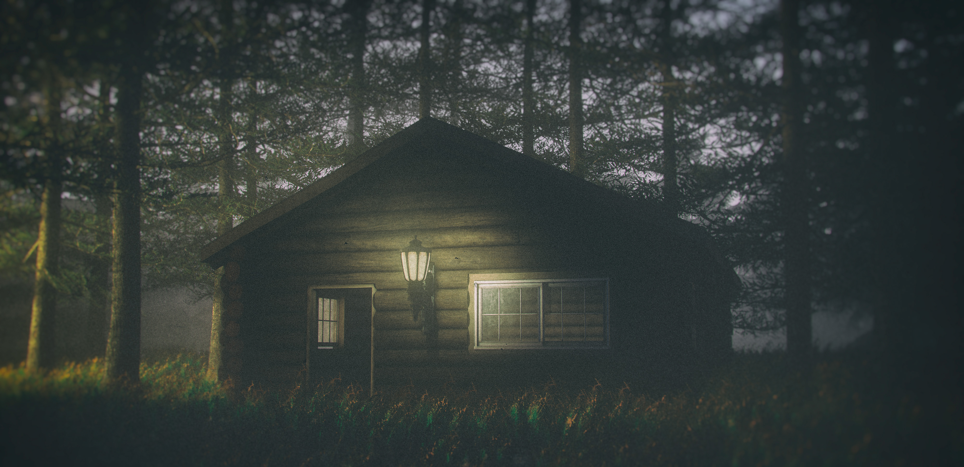 House In Forest Darkness 4k Hd Artist 4k Wallpapers