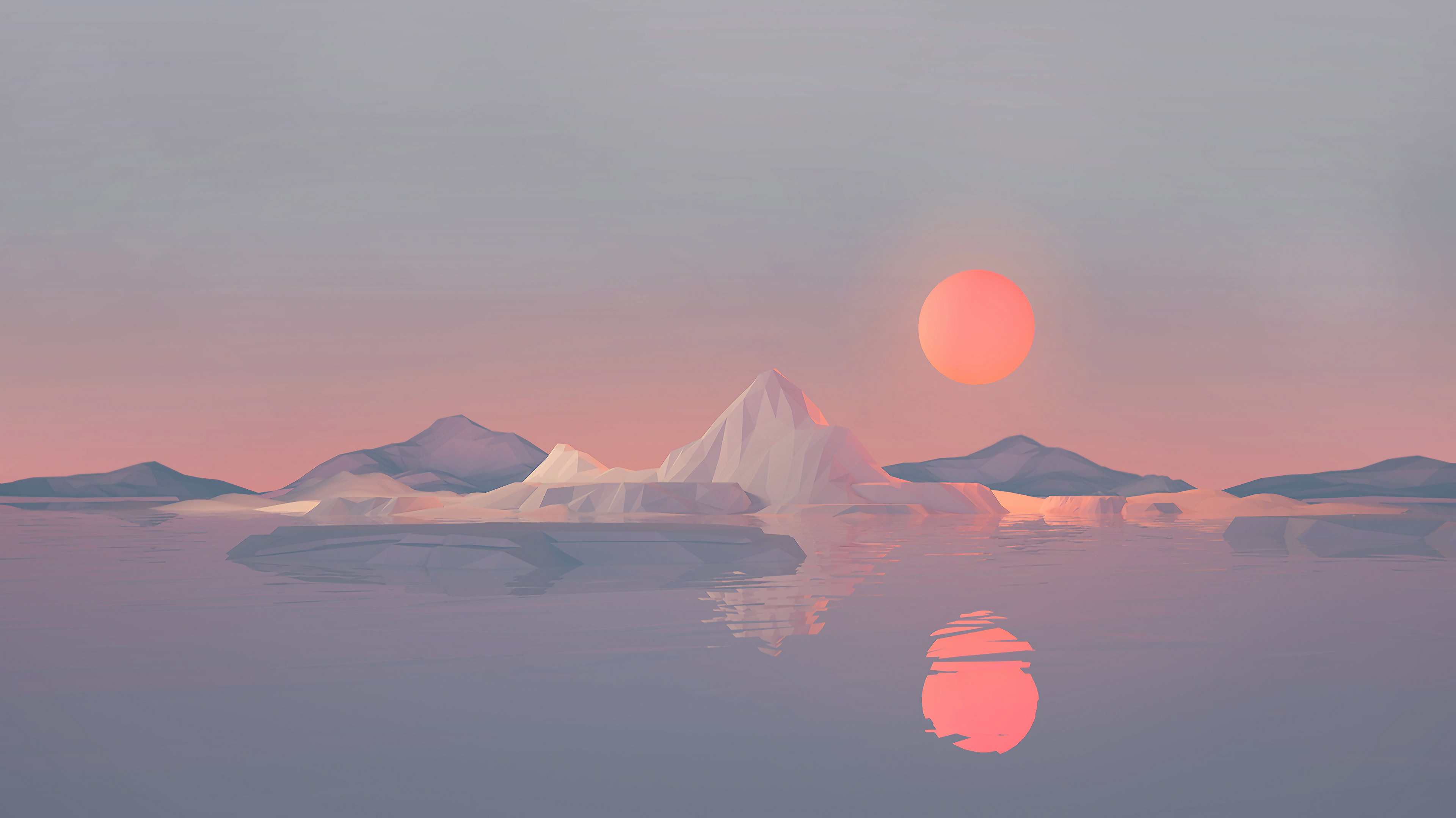 Iceberg Minimalist 4k Hd Artist 4k Wallpapers Images