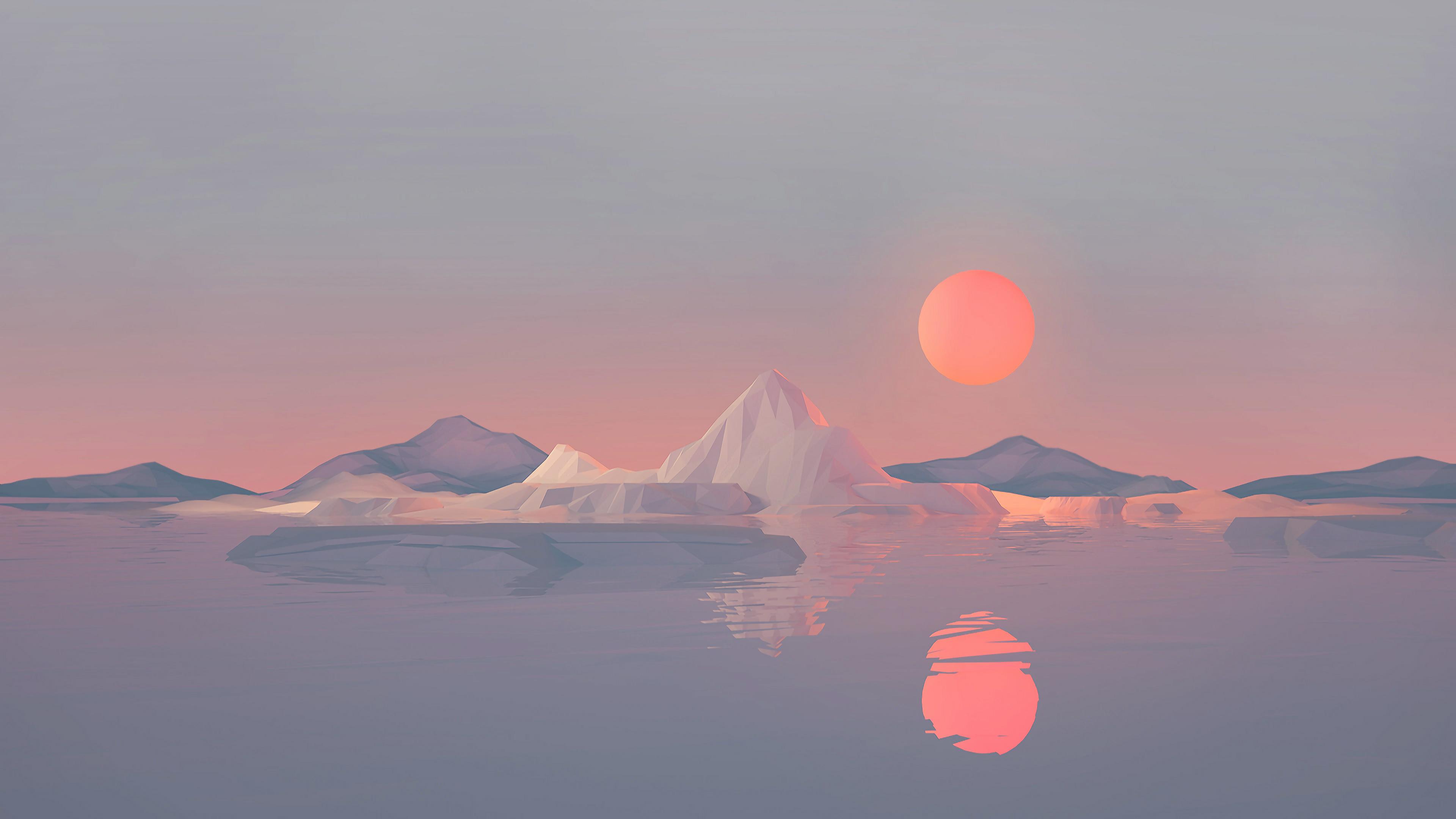 Recovery Mountain Minimalist 4k Hd Desktop Wallpaper For: Iceberg Minimalist 4k, HD Artist, 4k Wallpapers, Images