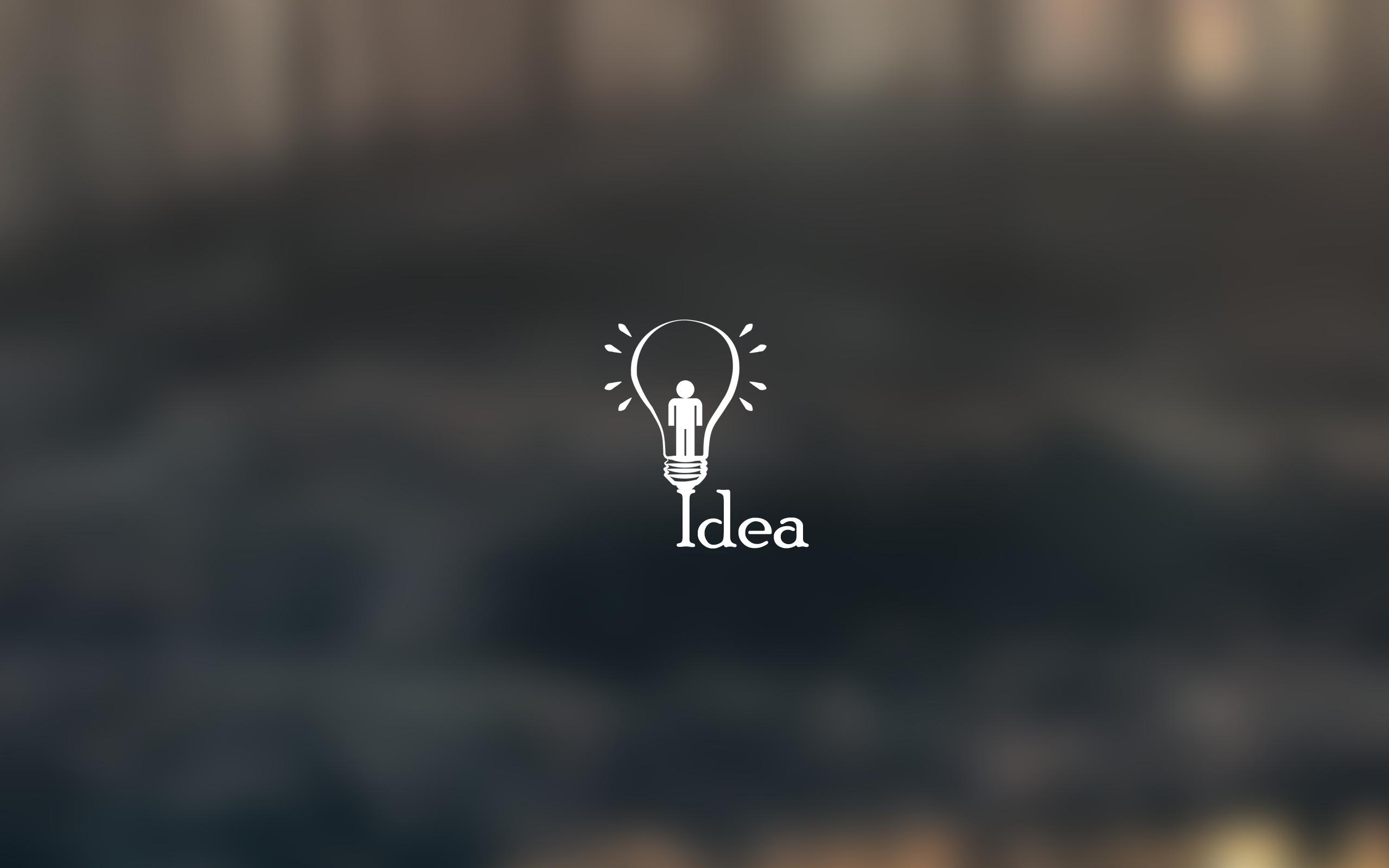 idea typography hd 4k wallpapers