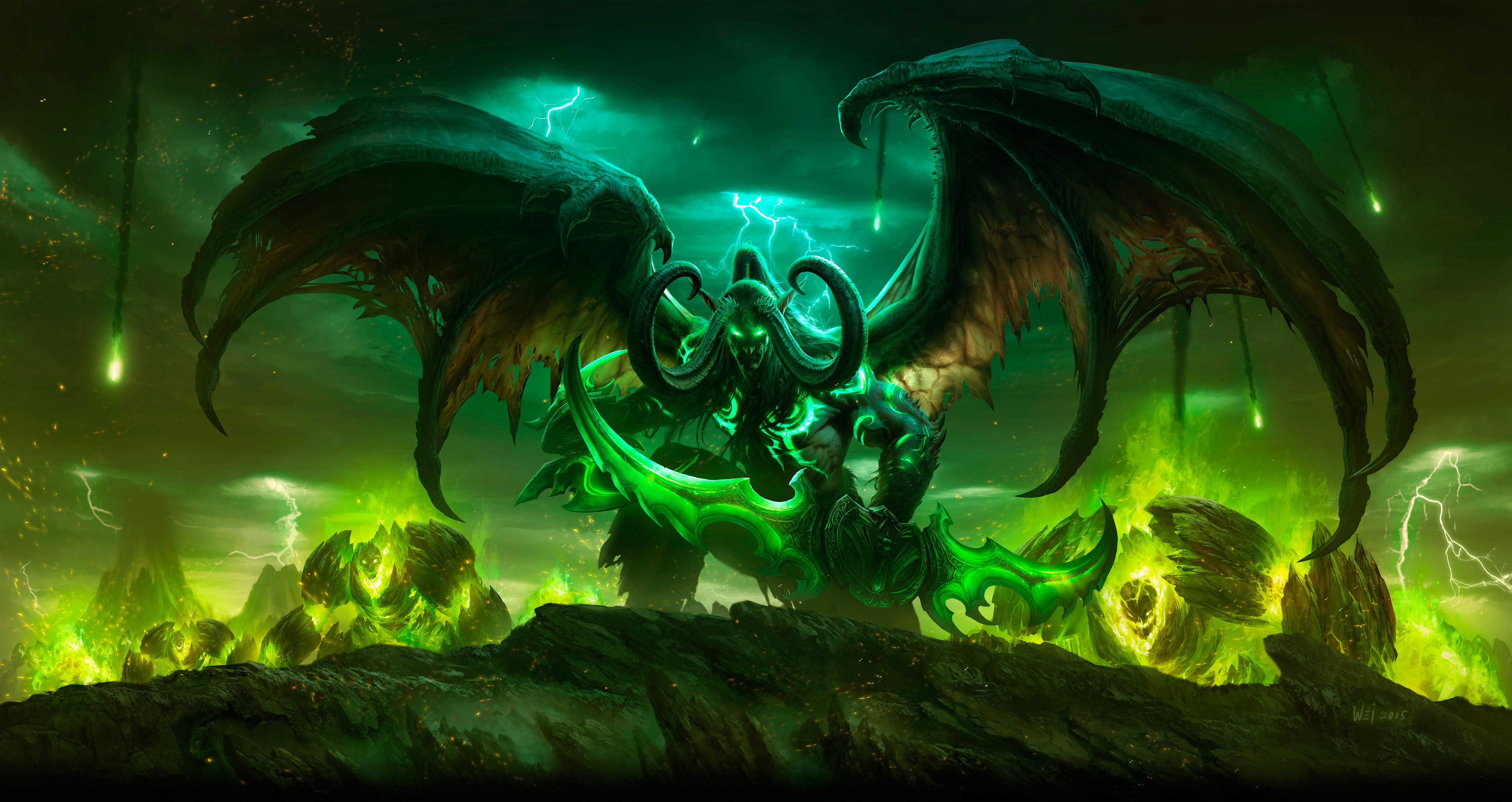 Illidan Stormrag World Of Warcraft Legion 5k Hd Games 4k