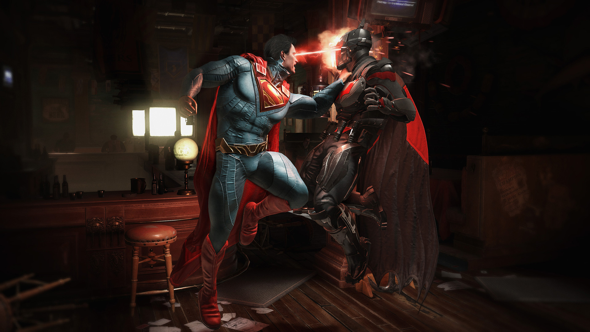 Injustice 2 Superman Hd Games 4k Wallpapers Images: 1366x768 Injustice 2 Batman Vs Superman 1366x768