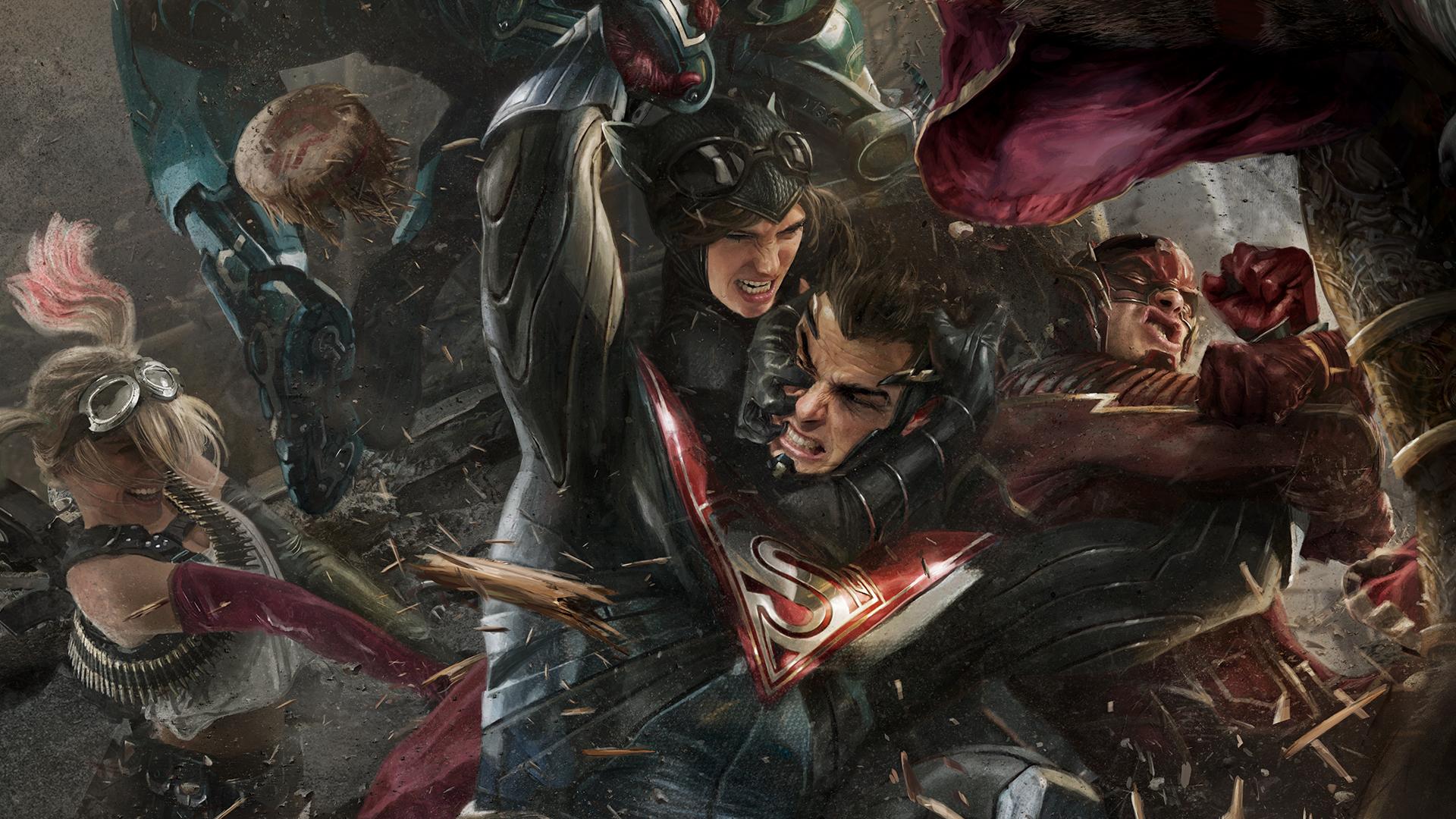 Injustice 2 hd games 4k wallpapers images backgrounds for El mural trailer