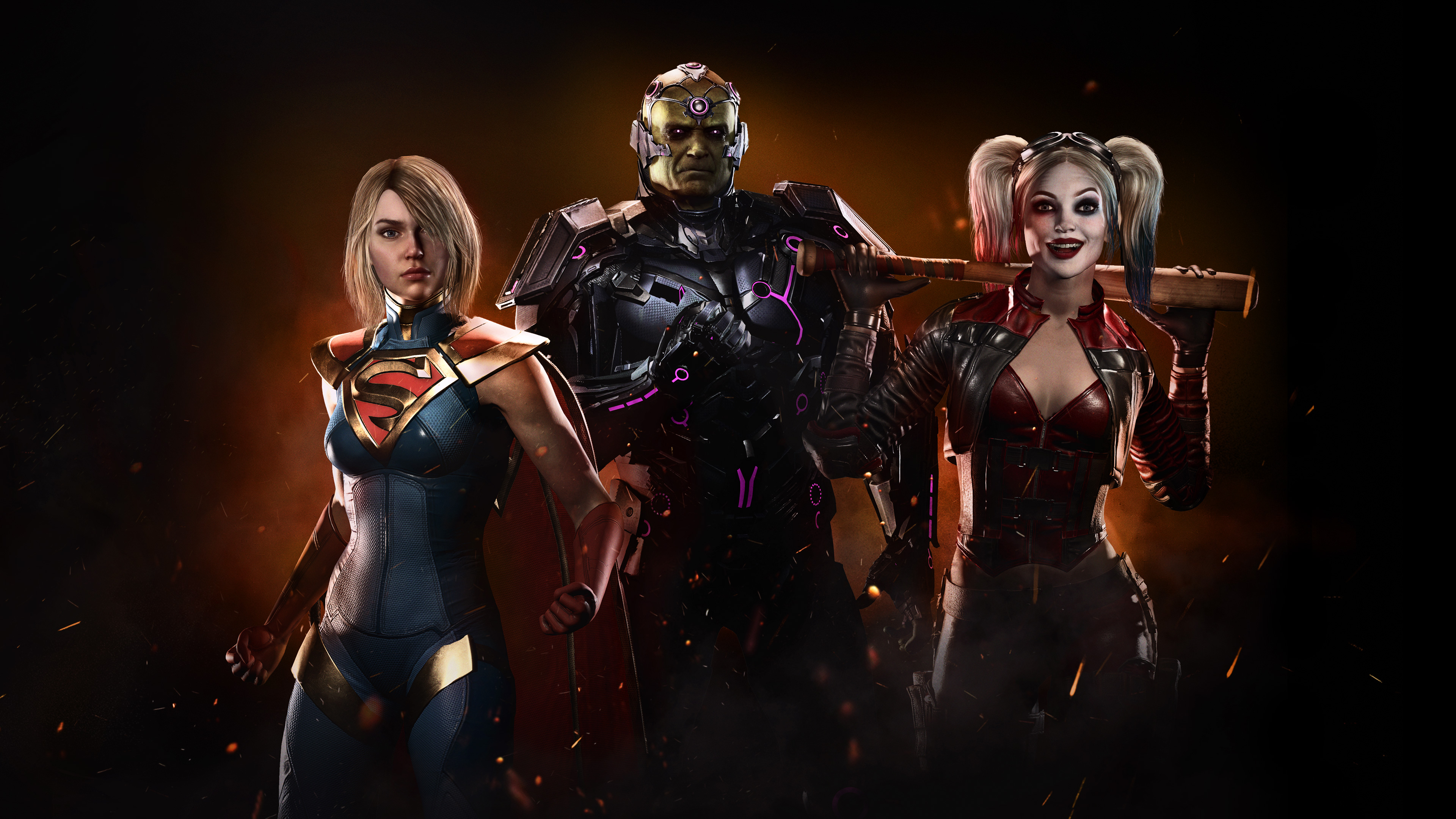 Harley Quinn Injustice 2 Wallpaper: 2560x1440 Injustice 2 Supergirl Harley Quinn 4k 1440P