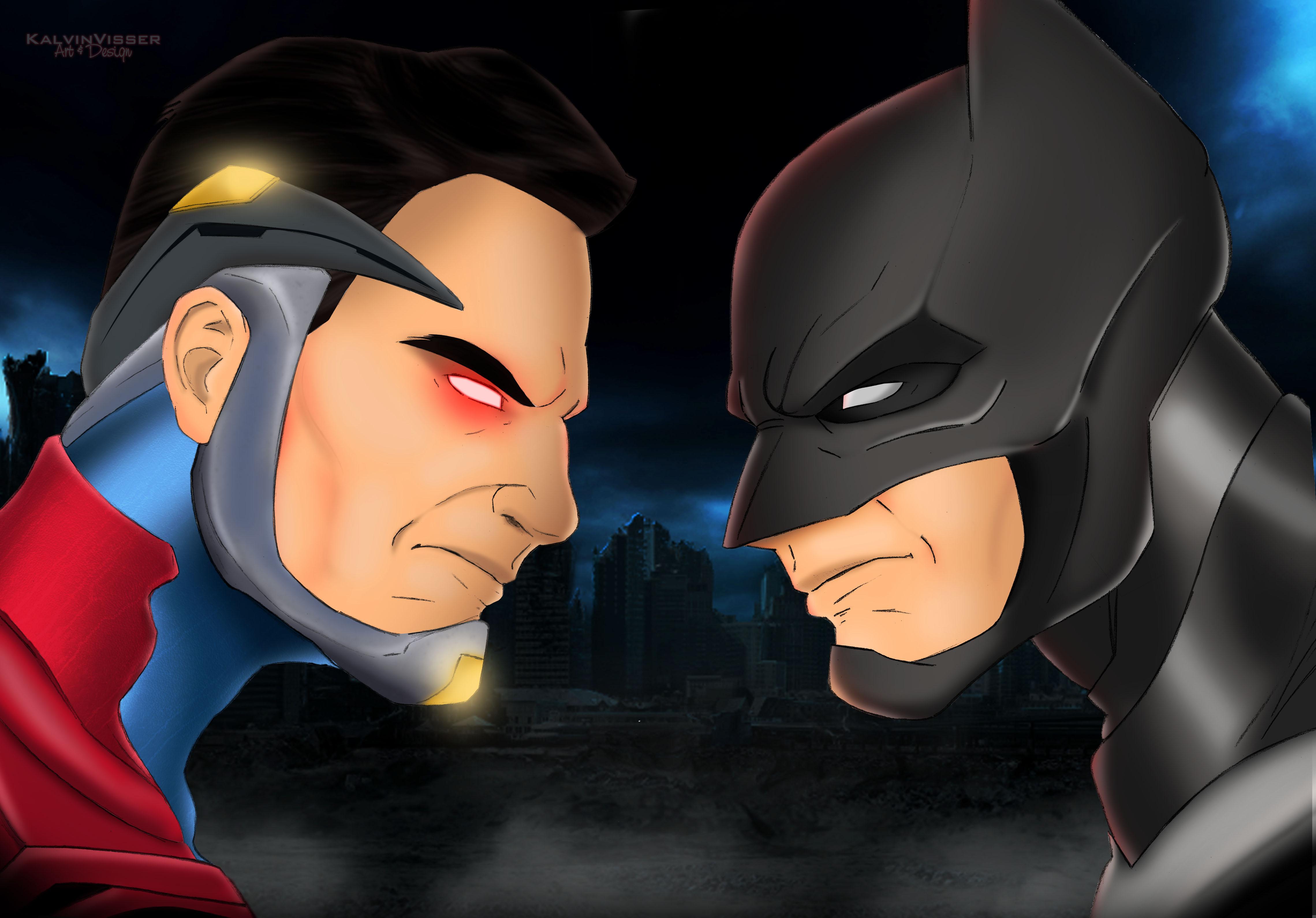 Injustice 2 Superman Hd Games 4k Wallpapers Images: Injustice 2 Superman Vs Batman Art, HD Superheroes, 4k