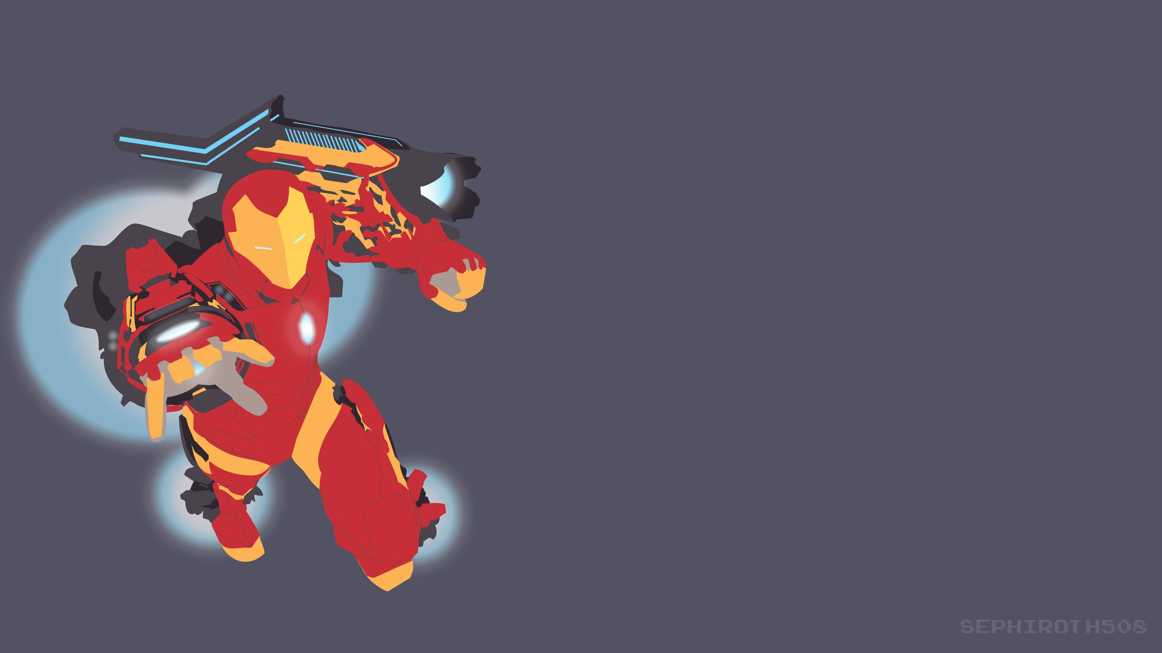 invincible iron man mk 51 vector hd superheroes 4k wallpapers
