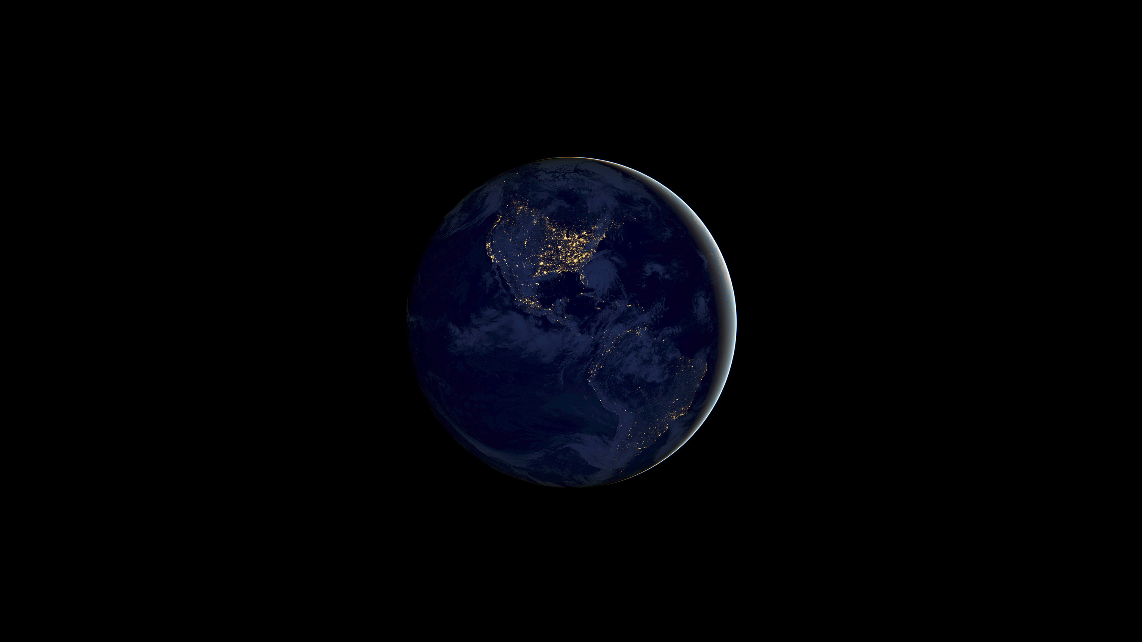 IOS 11 Earth Night 4k, HD Abstract, 4k Wallpapers, Images