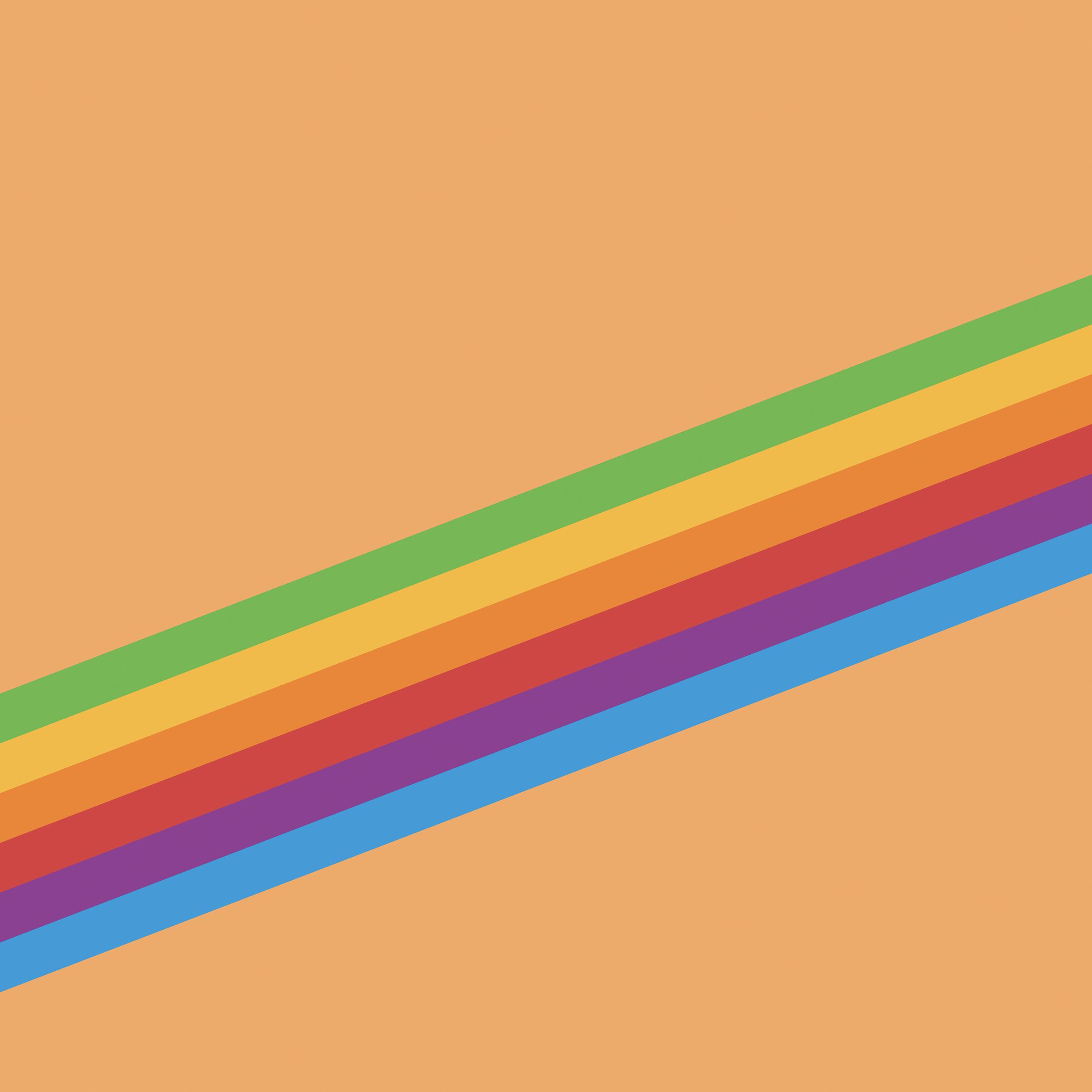 Ios 11 Heritage Stripe Orange, HD Abstract, 4k Wallpapers