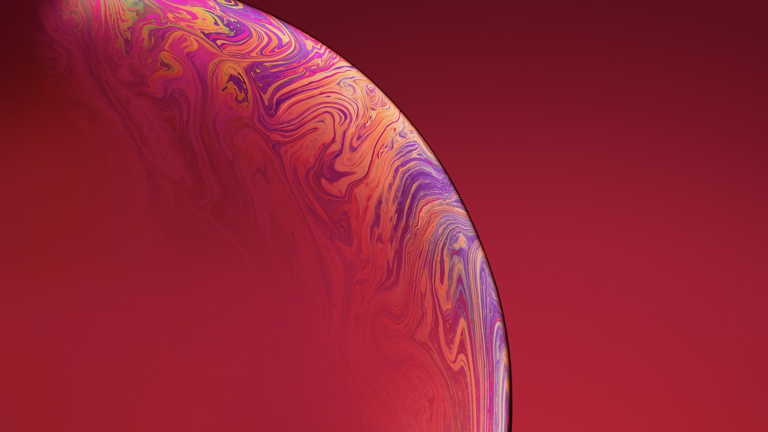 3840x2160 IPhone Xs Double Bubble Red 4k HD 4k Wallpapers
