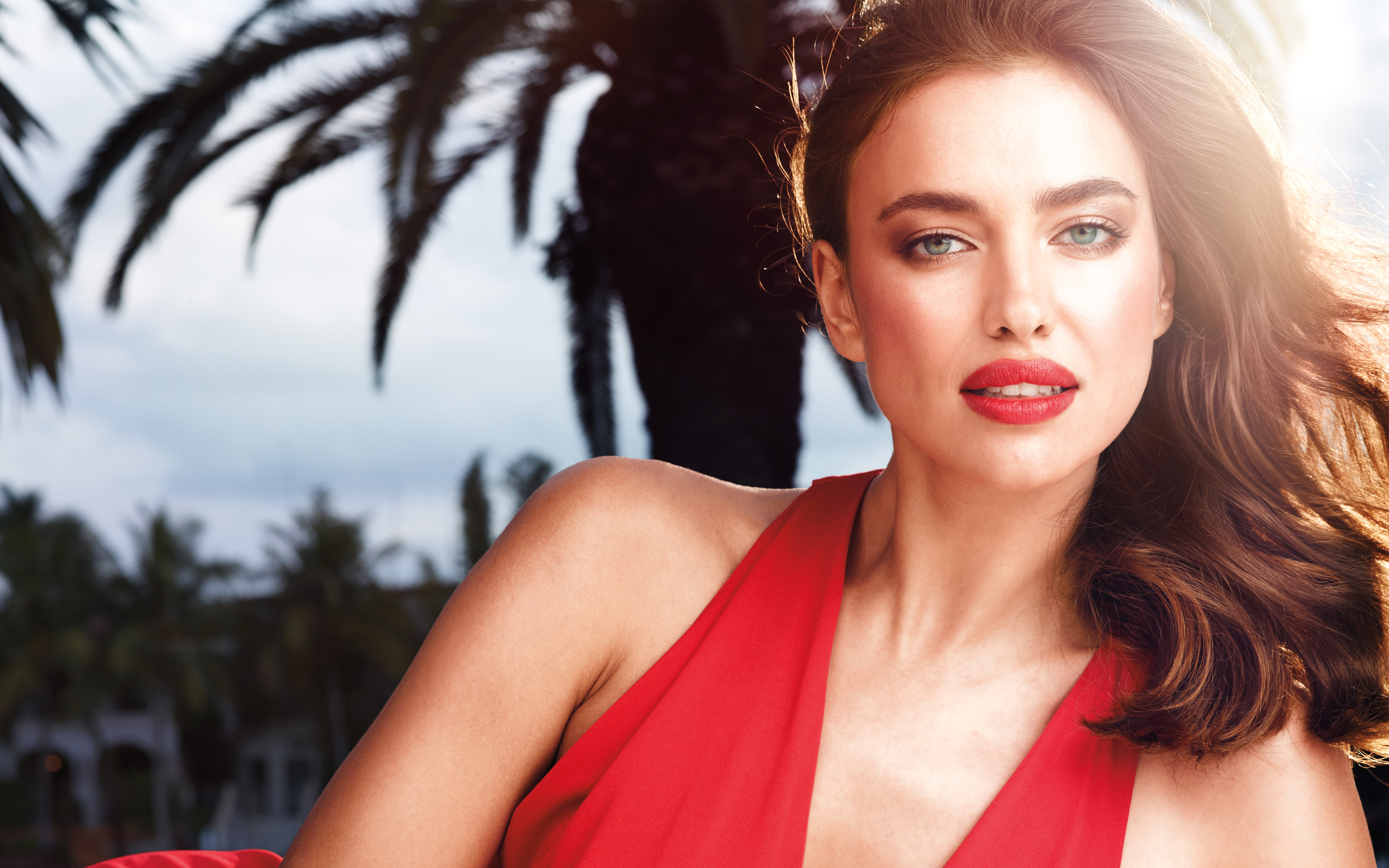 irina shayk red lips 2017, hd celebrities, 4k wallpapers, images