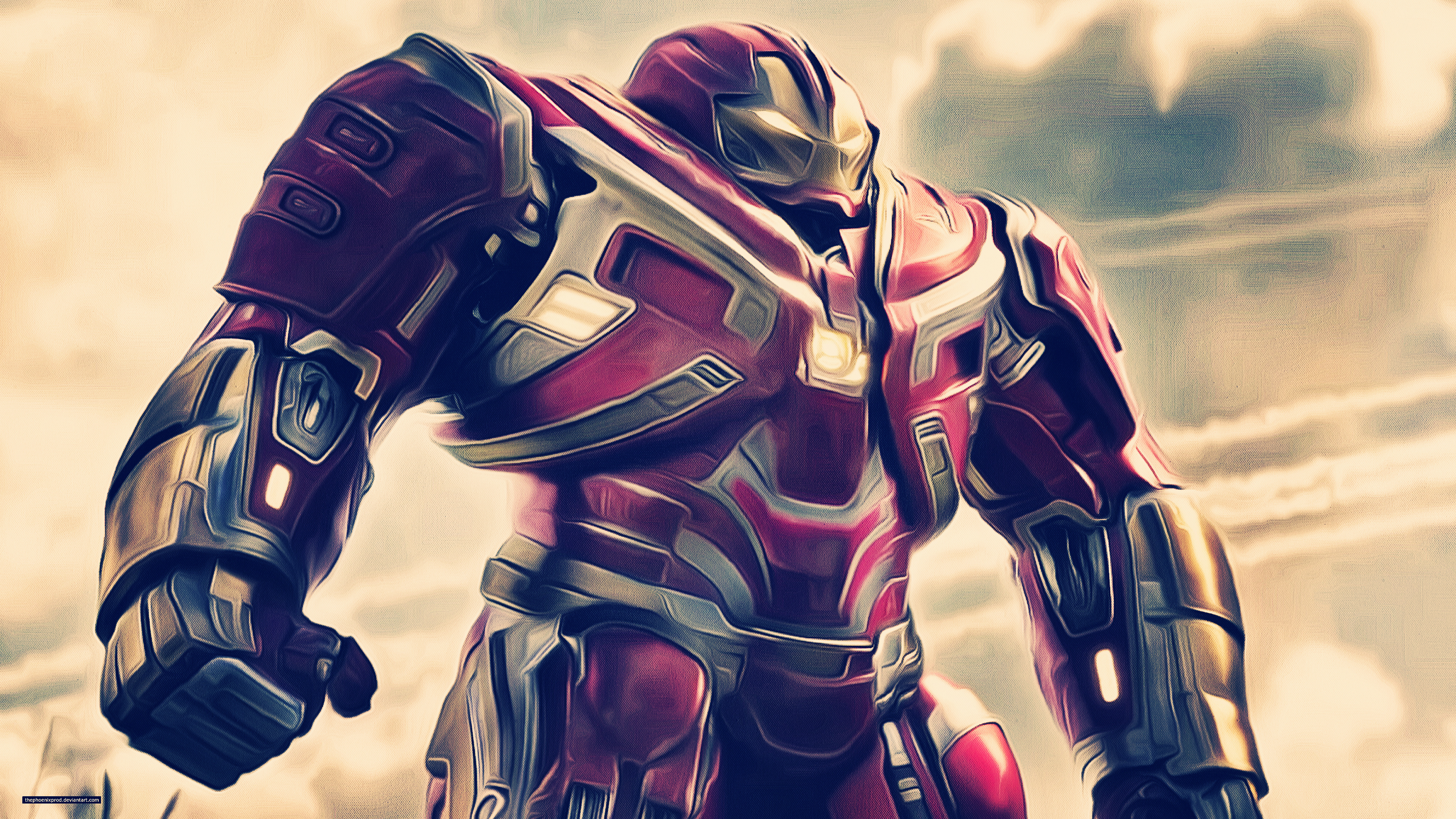 1280x2120 Iron Hulkbuster In Avengers Infinity War 2018 Artwork