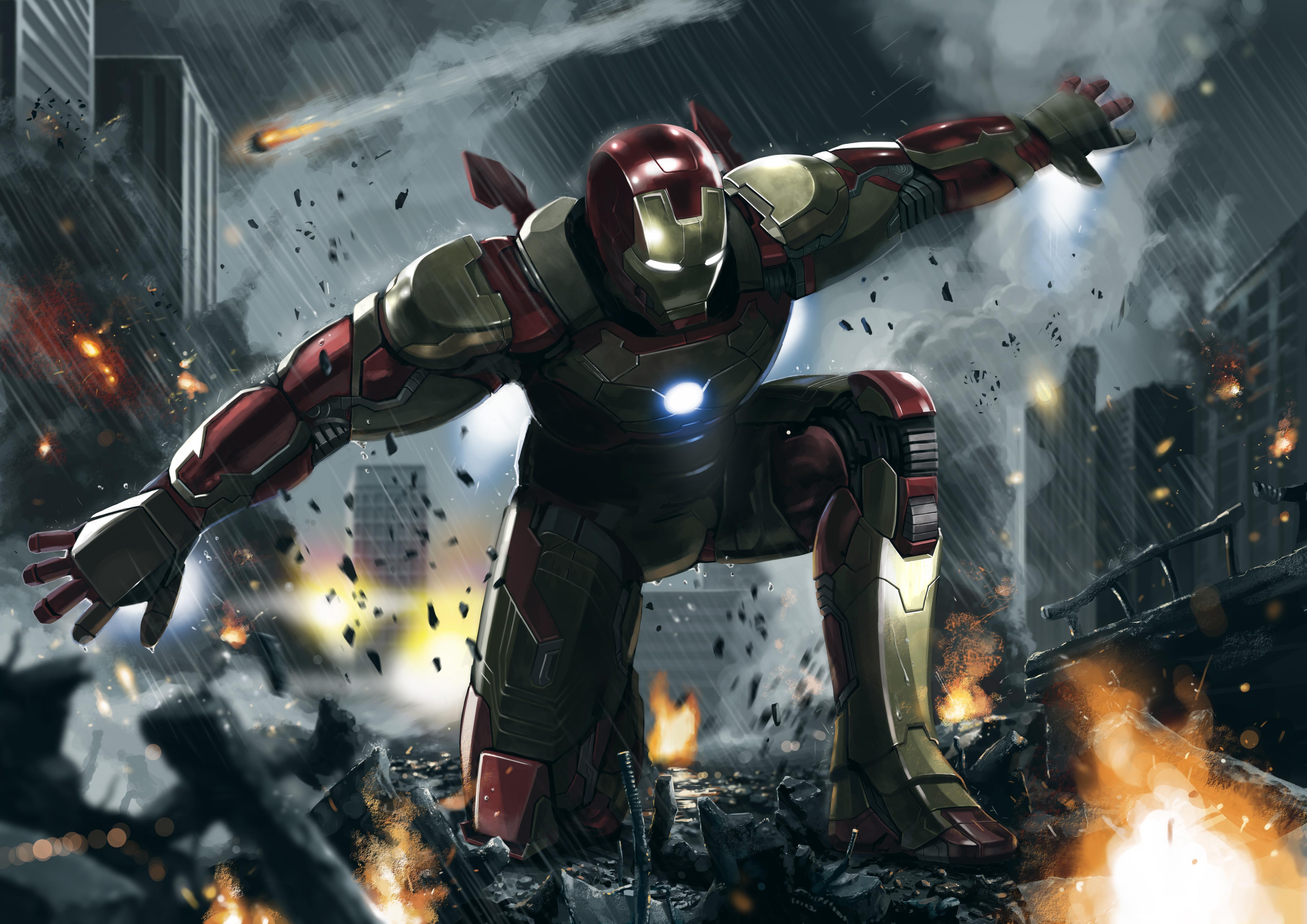 Iron Man 3 Art 4k, HD Superheroes, 4k Wallpapers, Images