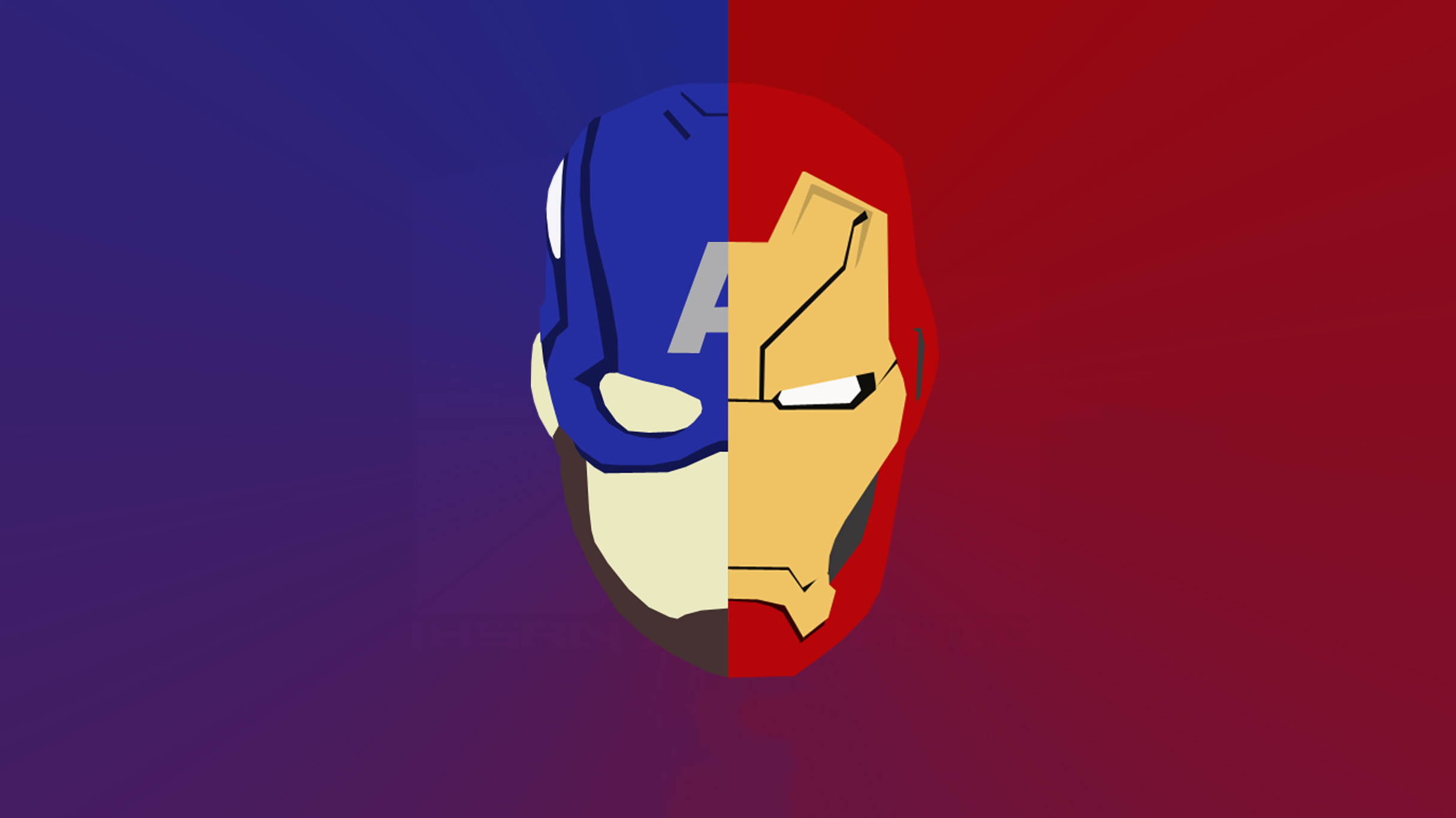 Iron Man And Captain America Artwork