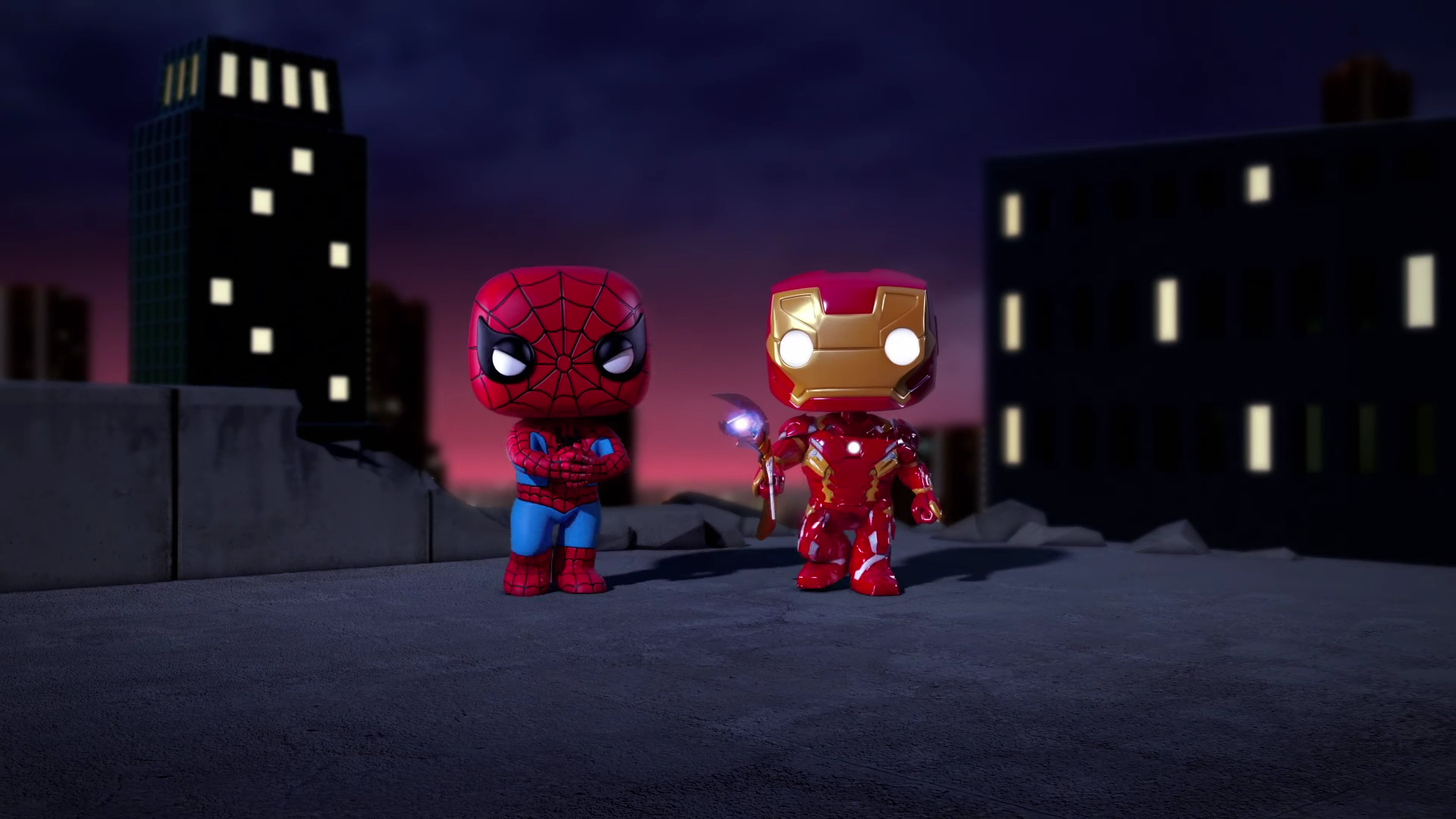 1920x1080 Iron Man And Spiderman Spellbound Animated Movie Laptop
