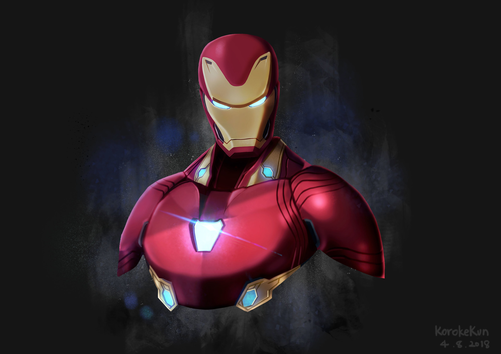 1920x1080 iron man avengers infinity war artwork laptop - Iron man cartoon hd ...