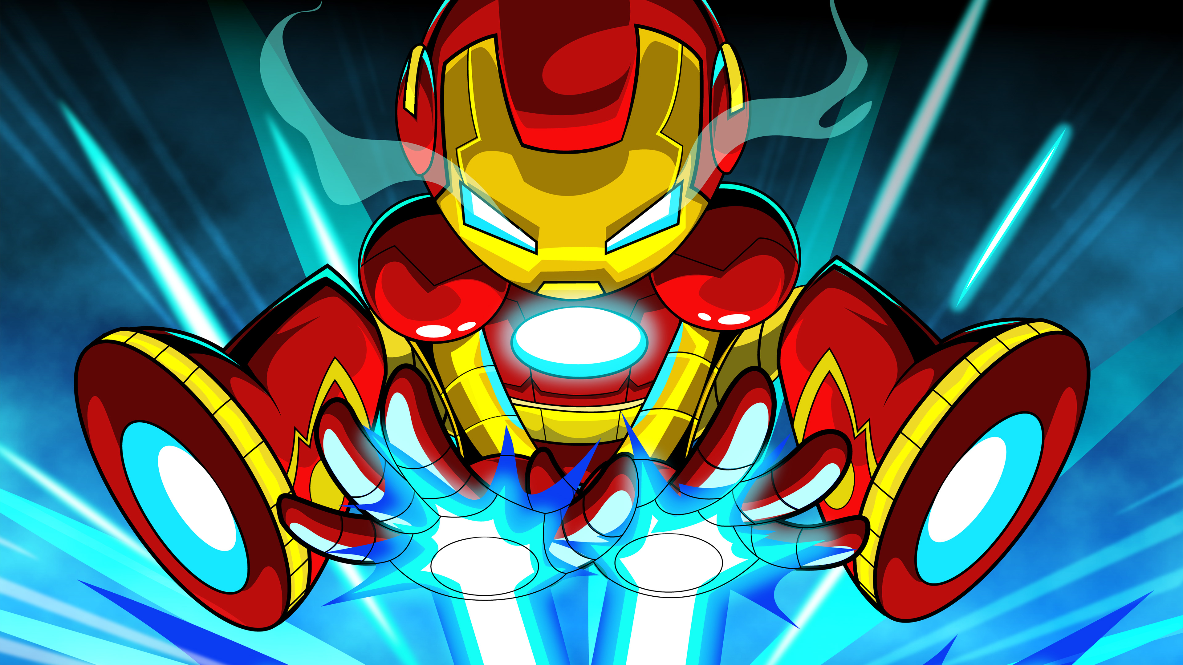Iron Man Artwork 4k Wallpapers: Iron Man Cartoon Digital Art 4k, HD Superheroes, 4k