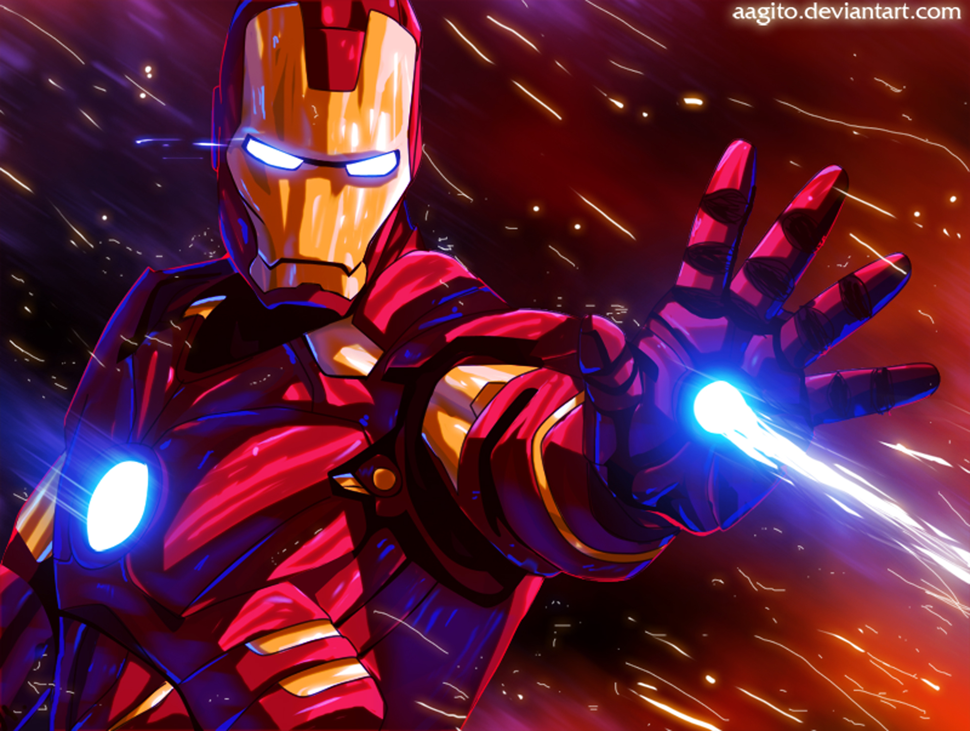 Iron Man Colorful Glowing Art, HD Superheroes, 4k ...