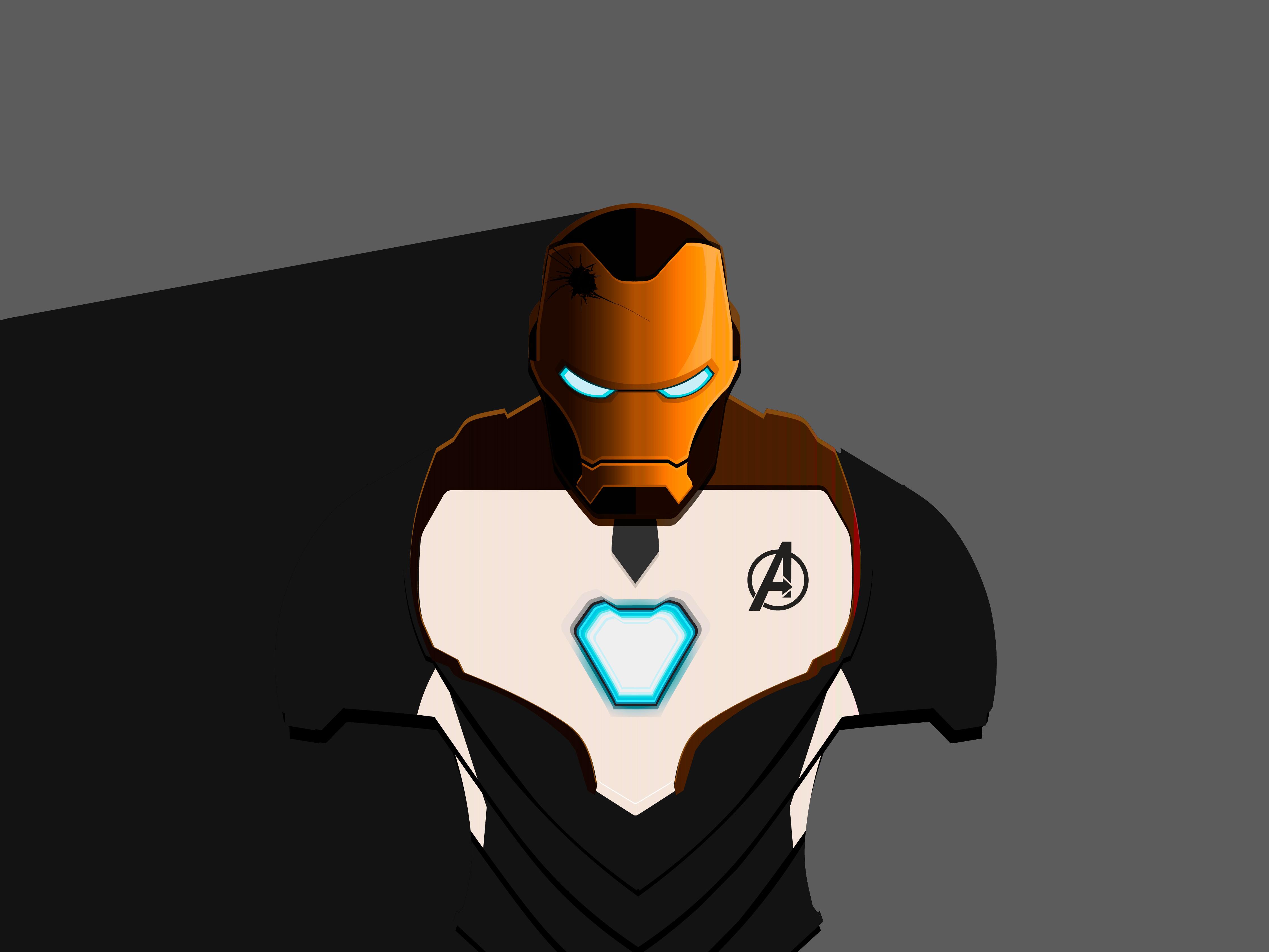Iron man mark 50 avengers endgame hd superheroes 4k - Iron man cartoon hd ...
