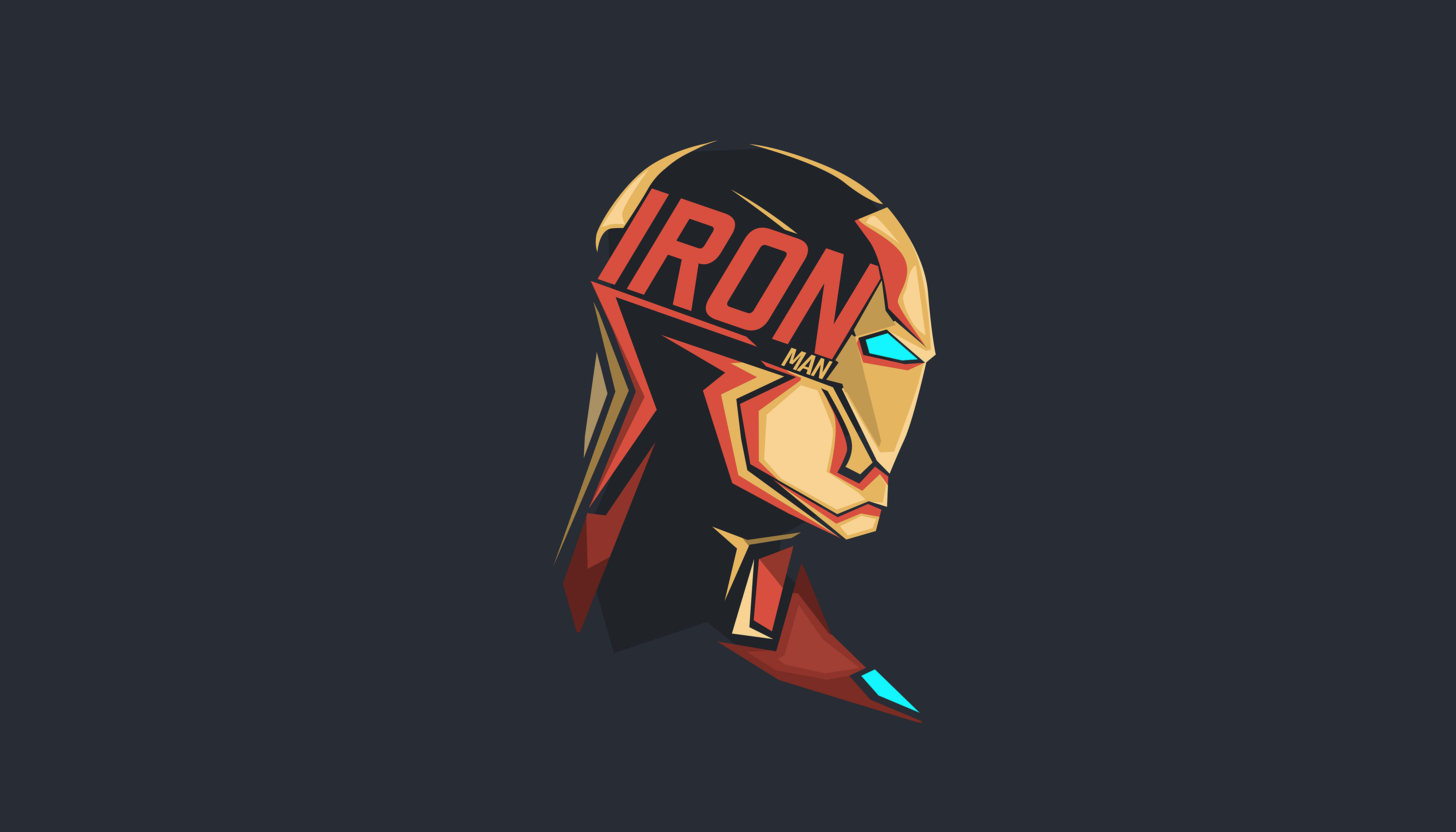 Iron Man Pop Head Minimalism 8k Hd Superheroes 4k Wallpapers