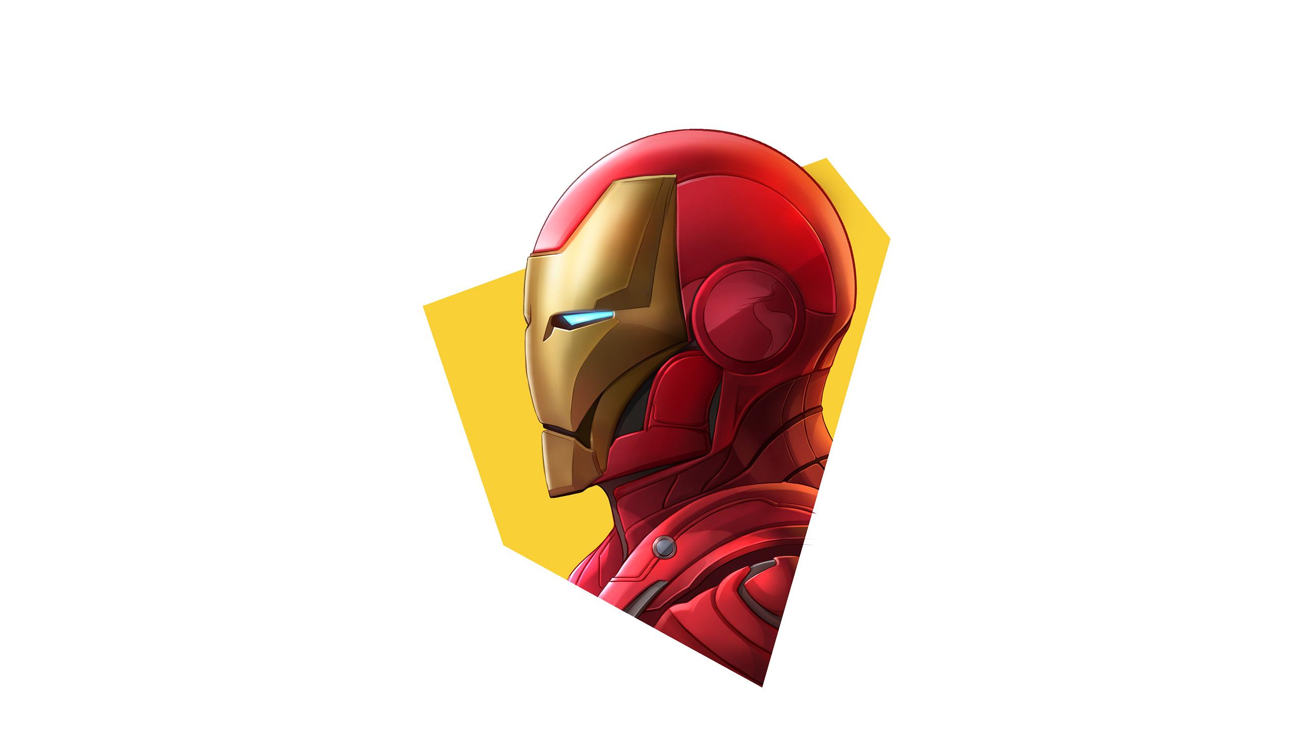 Iron Man Simple Minimalism, HD Superheroes, 4k Wallpapers ...