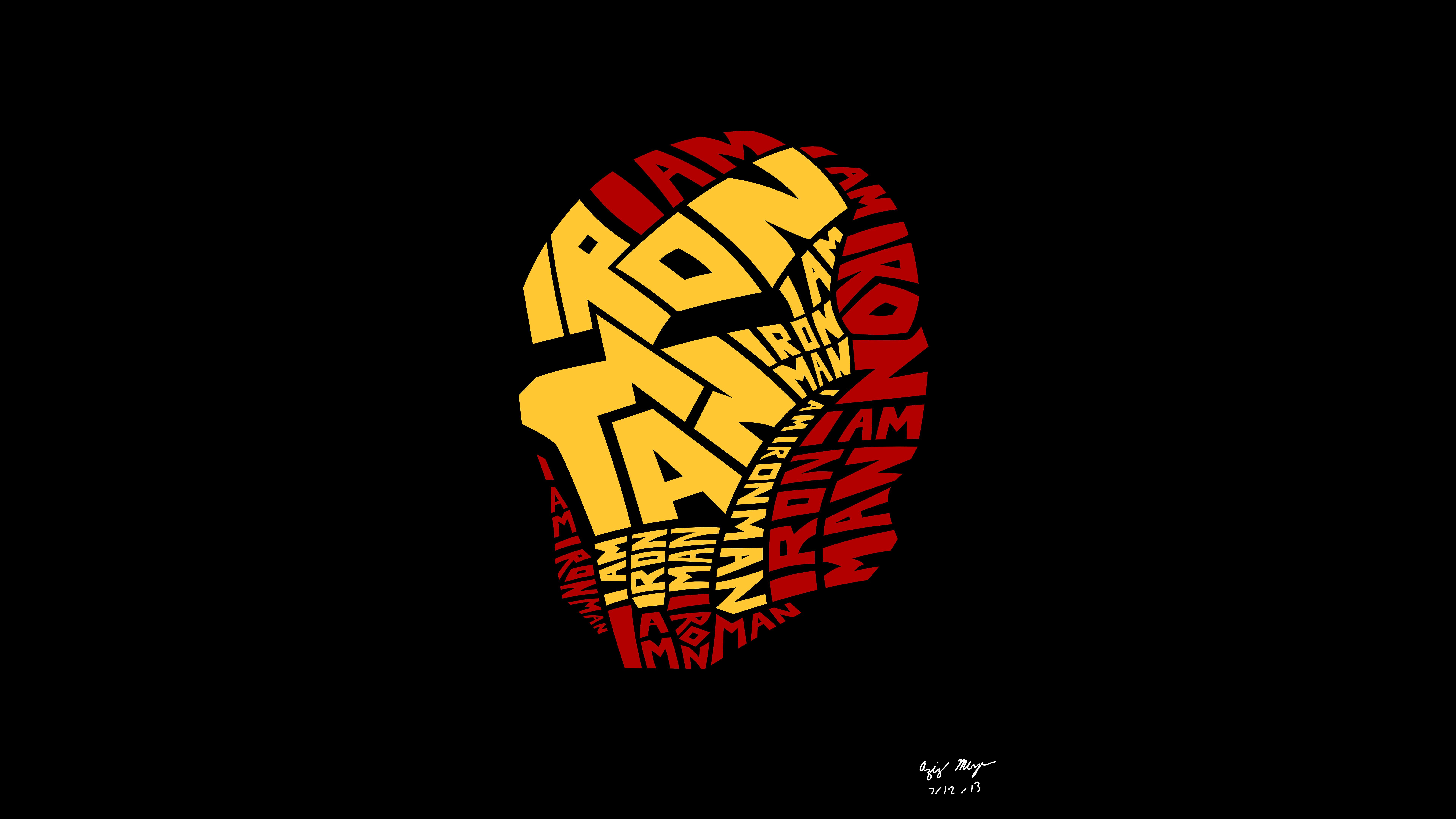 7680x4320 Iron Man Typography Artwork 8k 8k Hd 4k Wallpapers Images