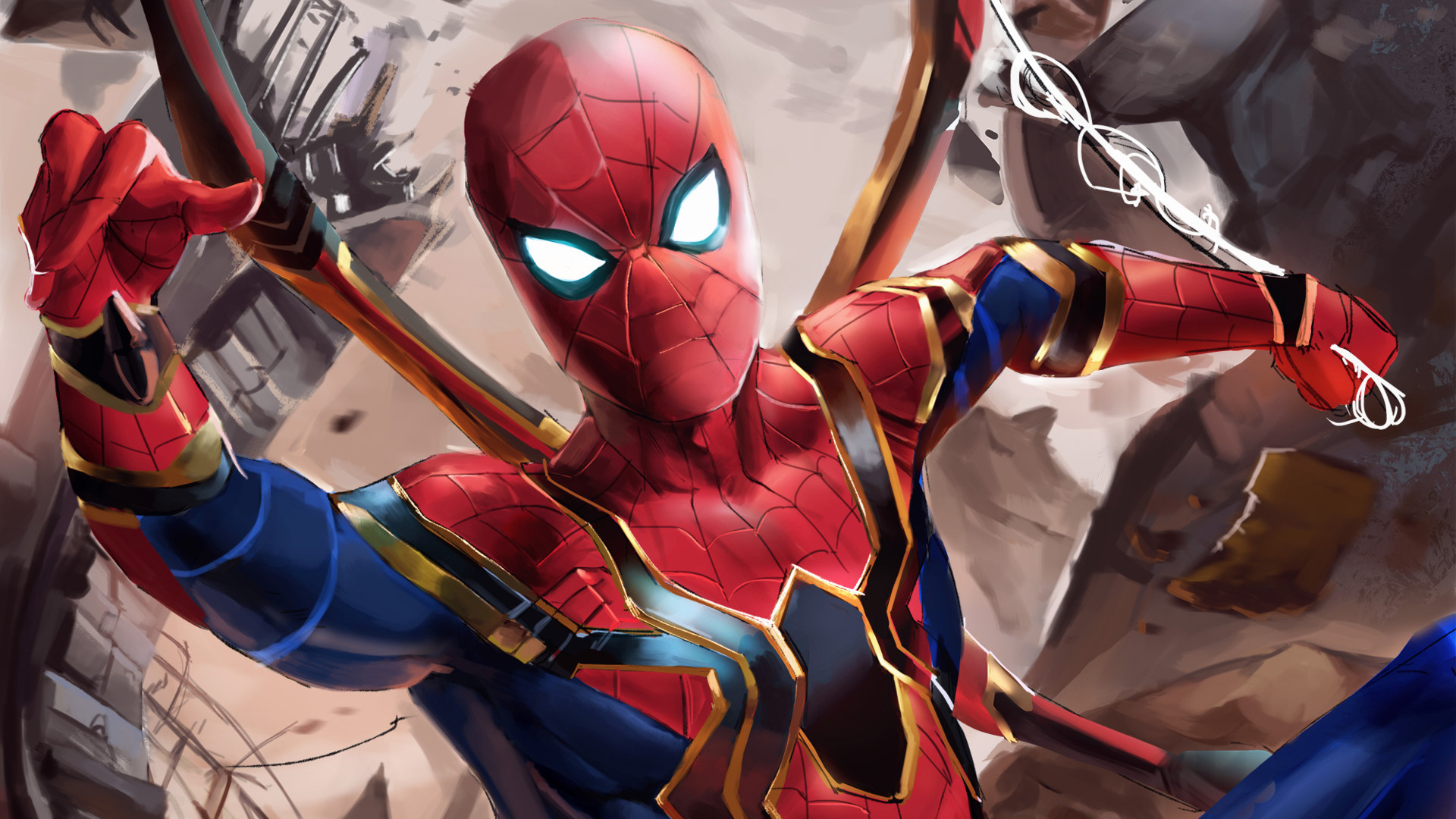 Iron spider suit in avengers infinity war hd movies 4k - Iron man spiderman wallpaper ...