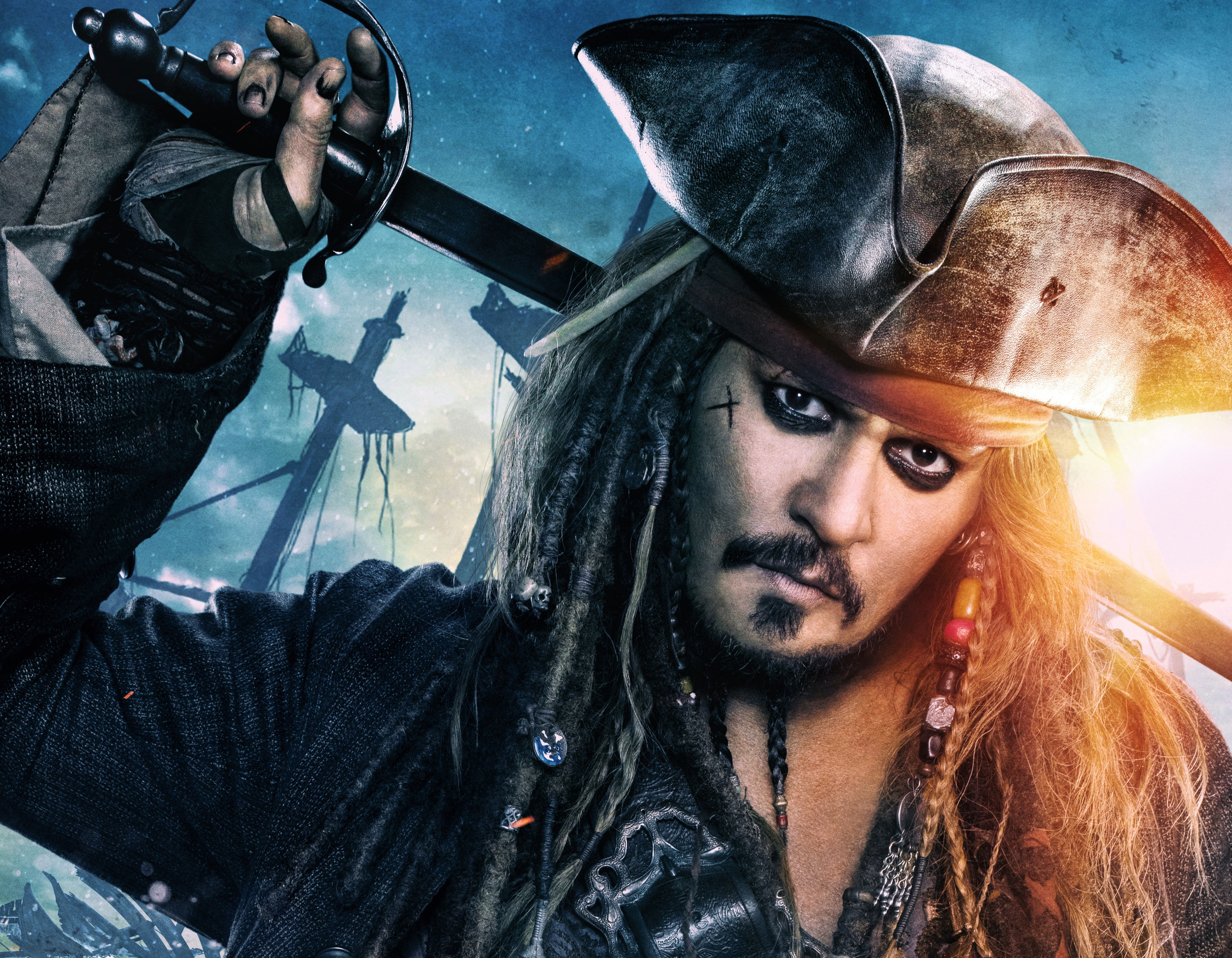 Jack sparrow in pirates of the caribbean dead men tell no - Pirates hd images ...