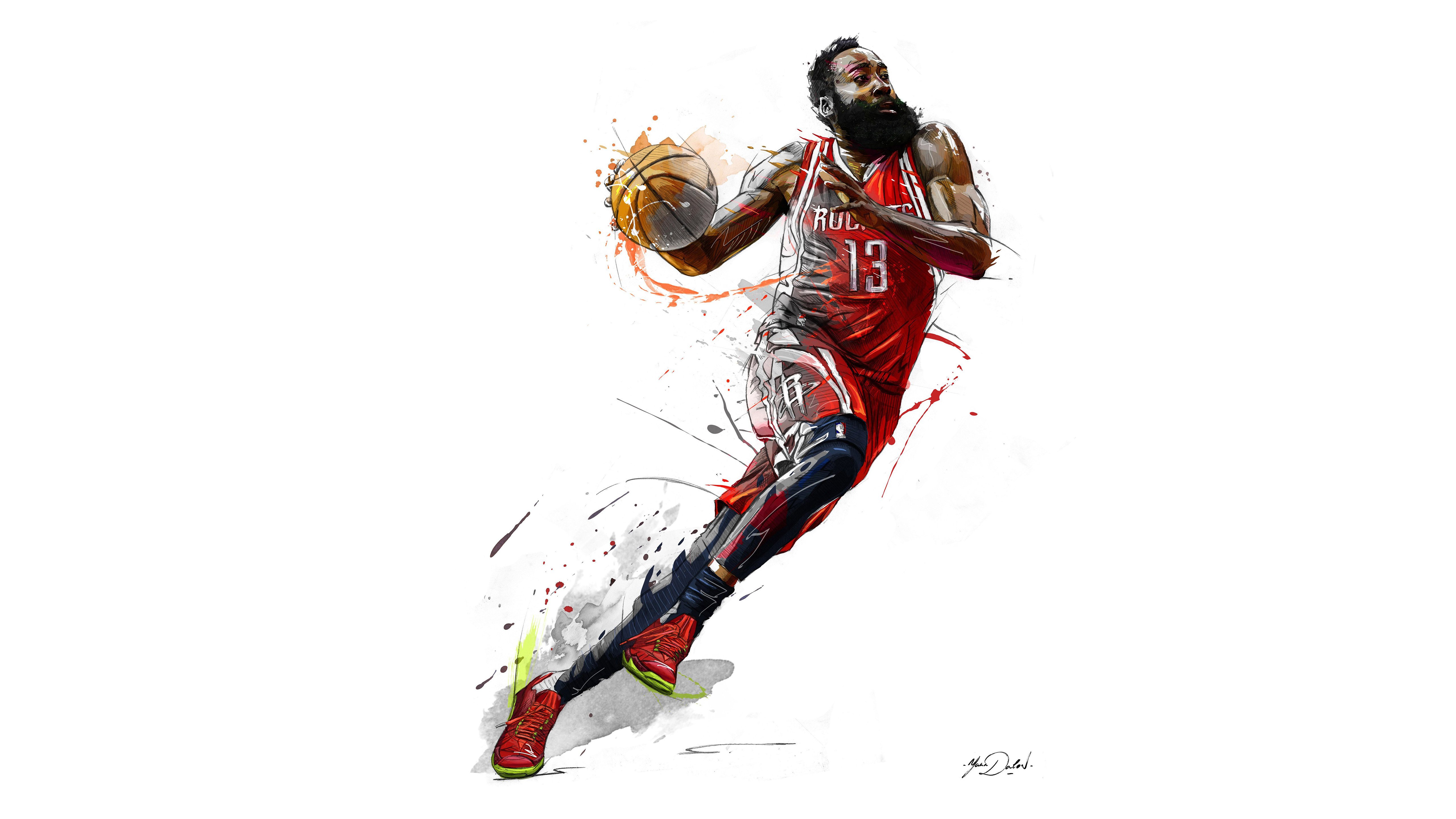 Basketball Player James Harden Wallpaper: James Harden 5k Art, HD Sports, 4k Wallpapers, Images