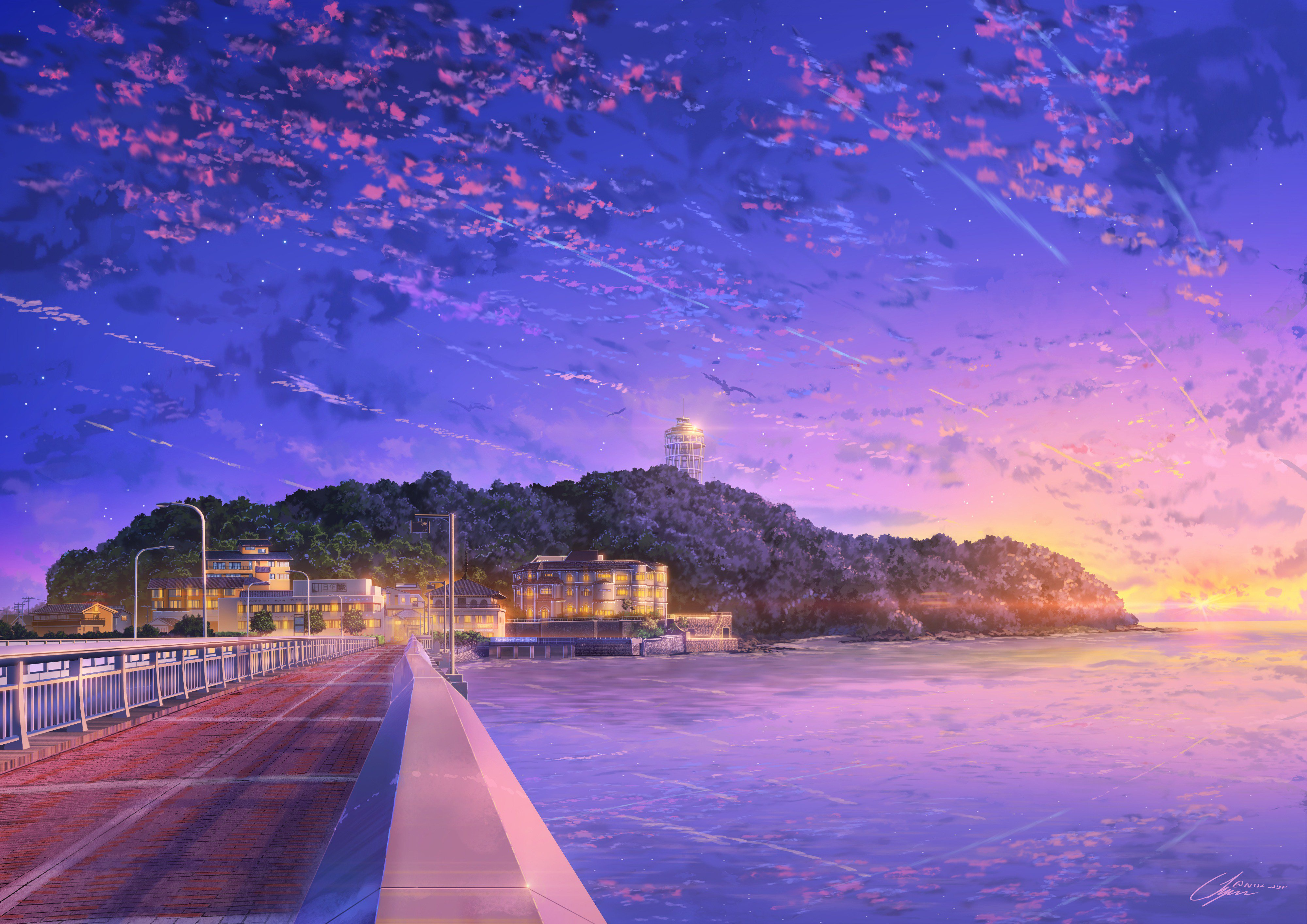 Japan Anime Sky 4k Hd Anime 4k Wallpapers Images