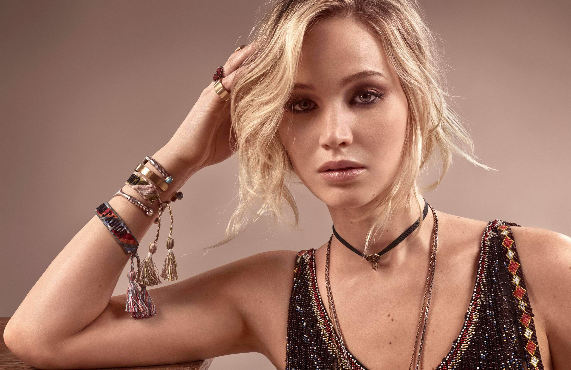 J. Law has published a photo in a frank dress. Who would have thought she was 49 99