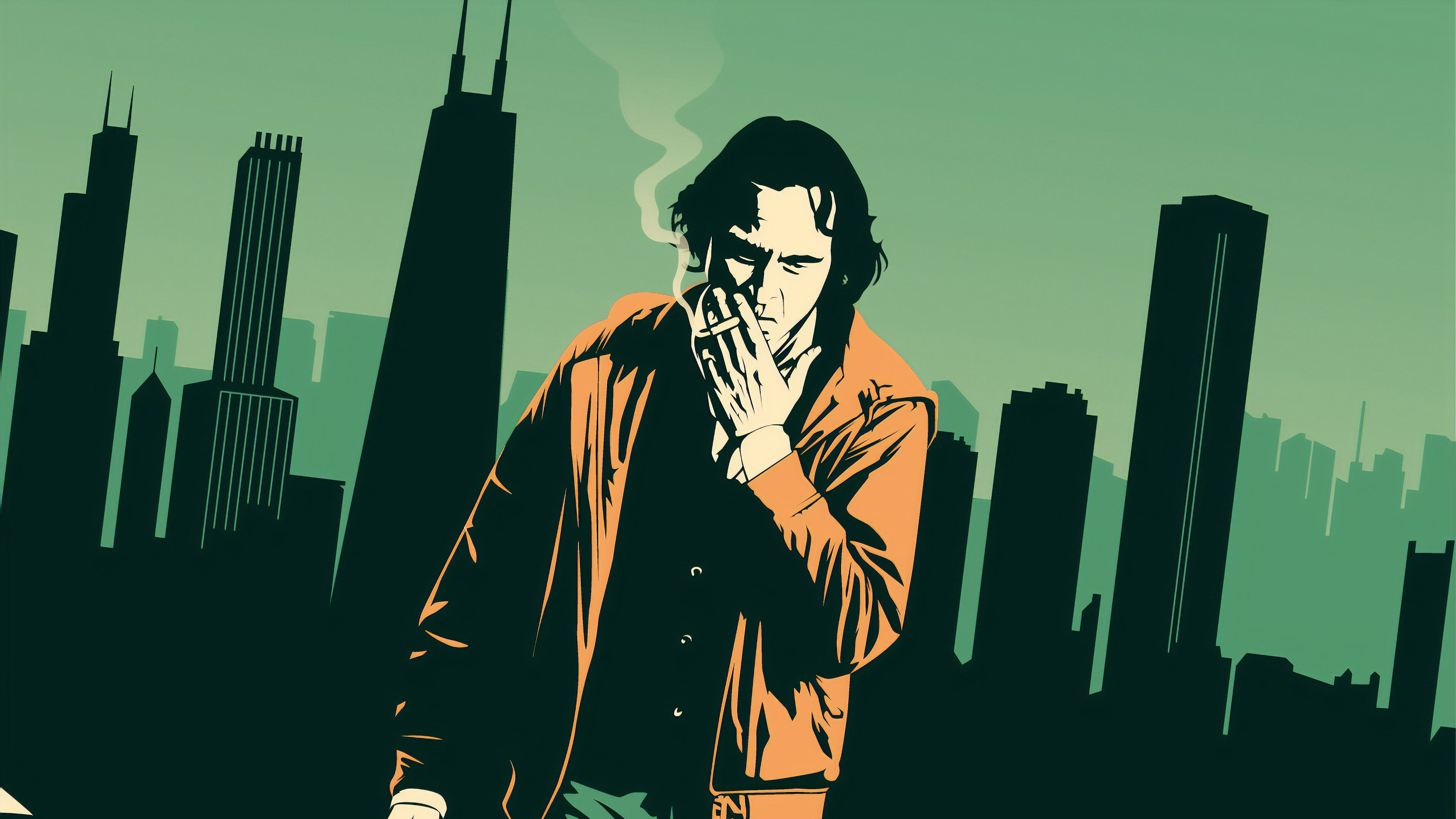 Joaquin Phoenix Smoking Fanart 4k Hd Movies 4k Wallpapers