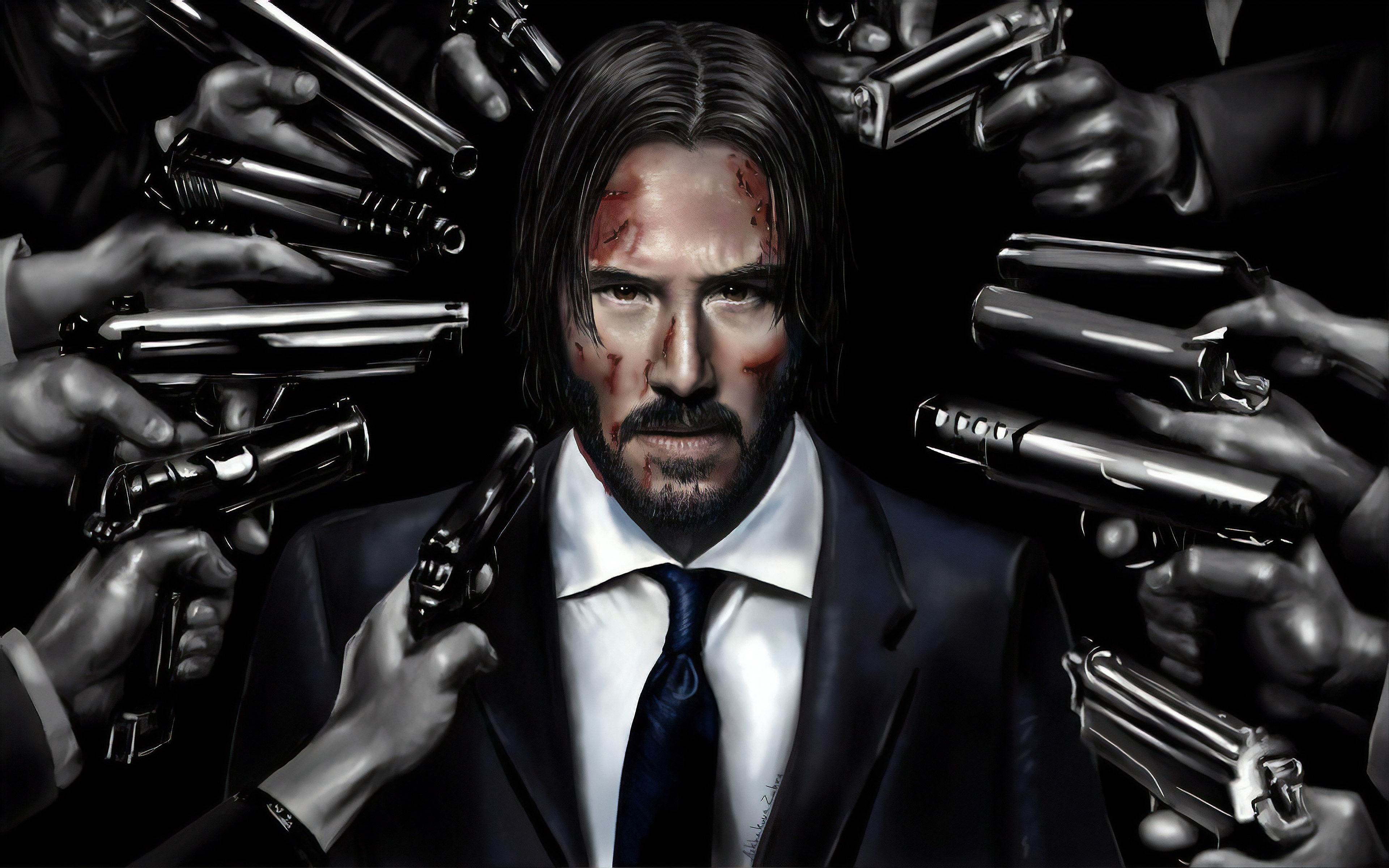 John Wick Art Hd Movies 4k Wallpapers Images Backgrounds