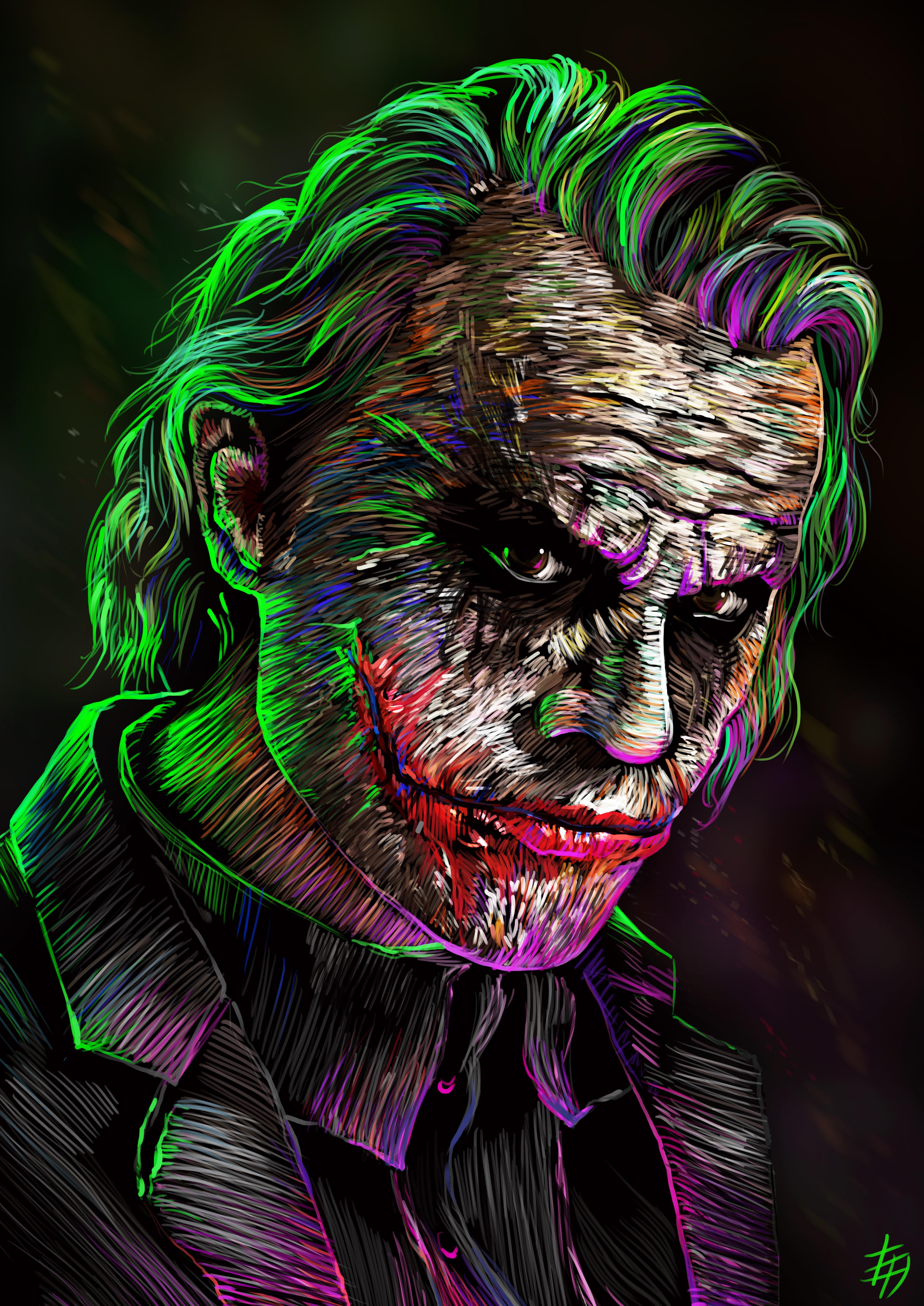 Joker 4k digital art hd superheroes 4k wallpapers for Joker wallpaper 4k